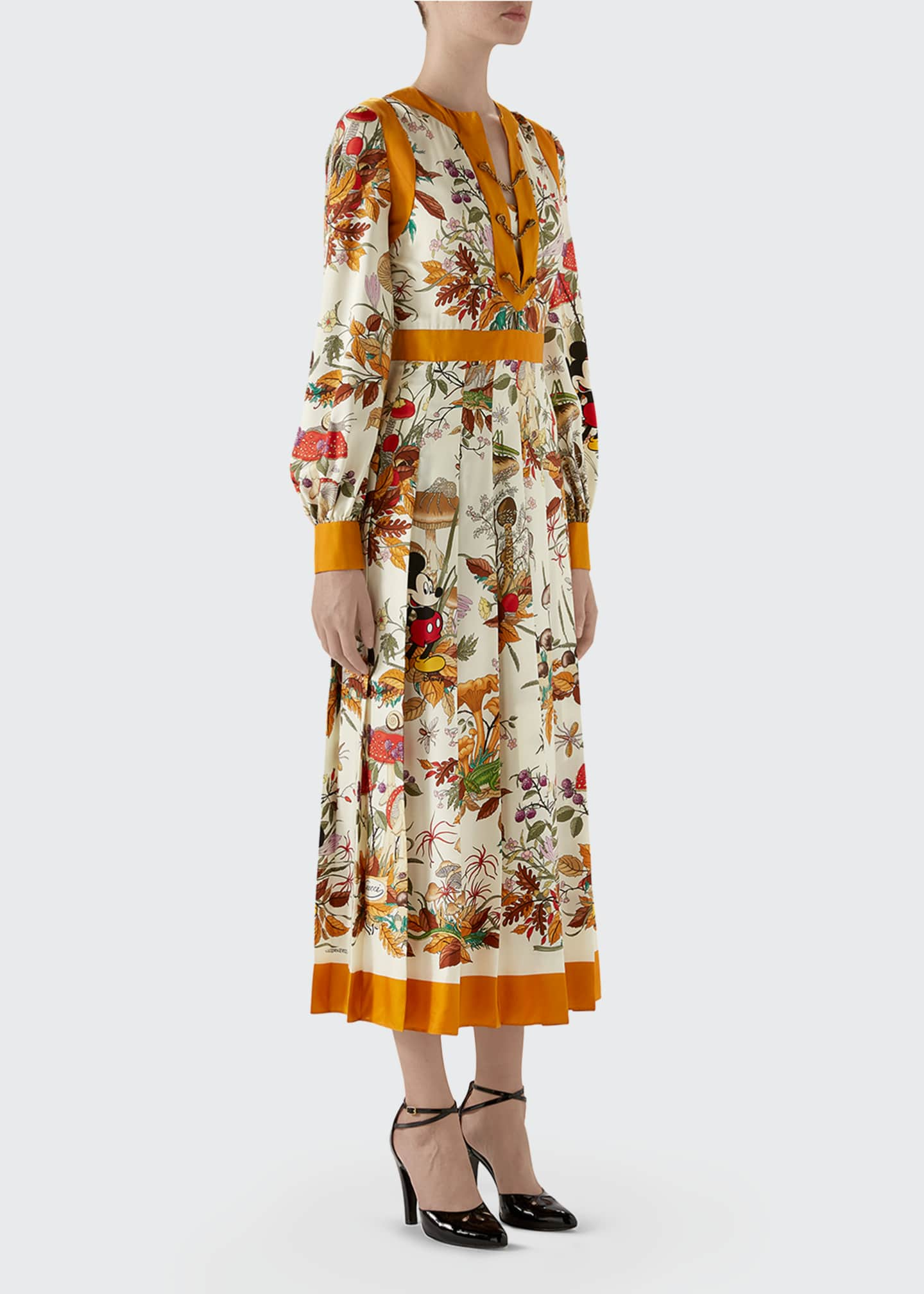 Image 4 of 4: Autumn Mickey Mouse Long-Sleeve Dress