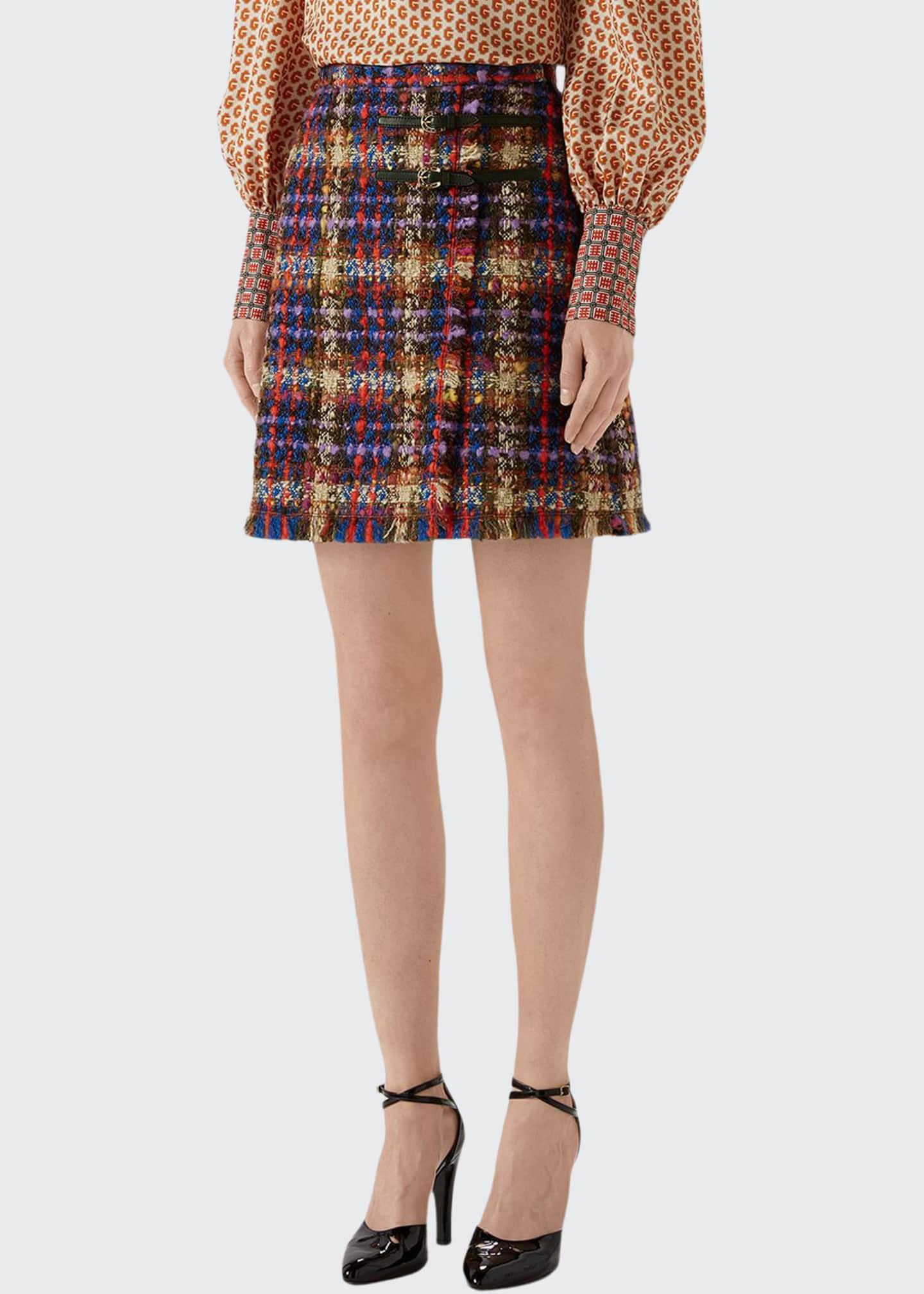 Gucci Bright Tweed Mini Skirt