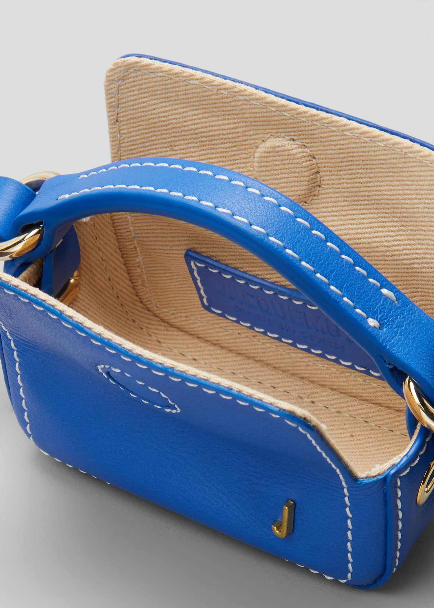Image 4 of 5: Le Nani Mini Charm Crossbody Bag, Blue