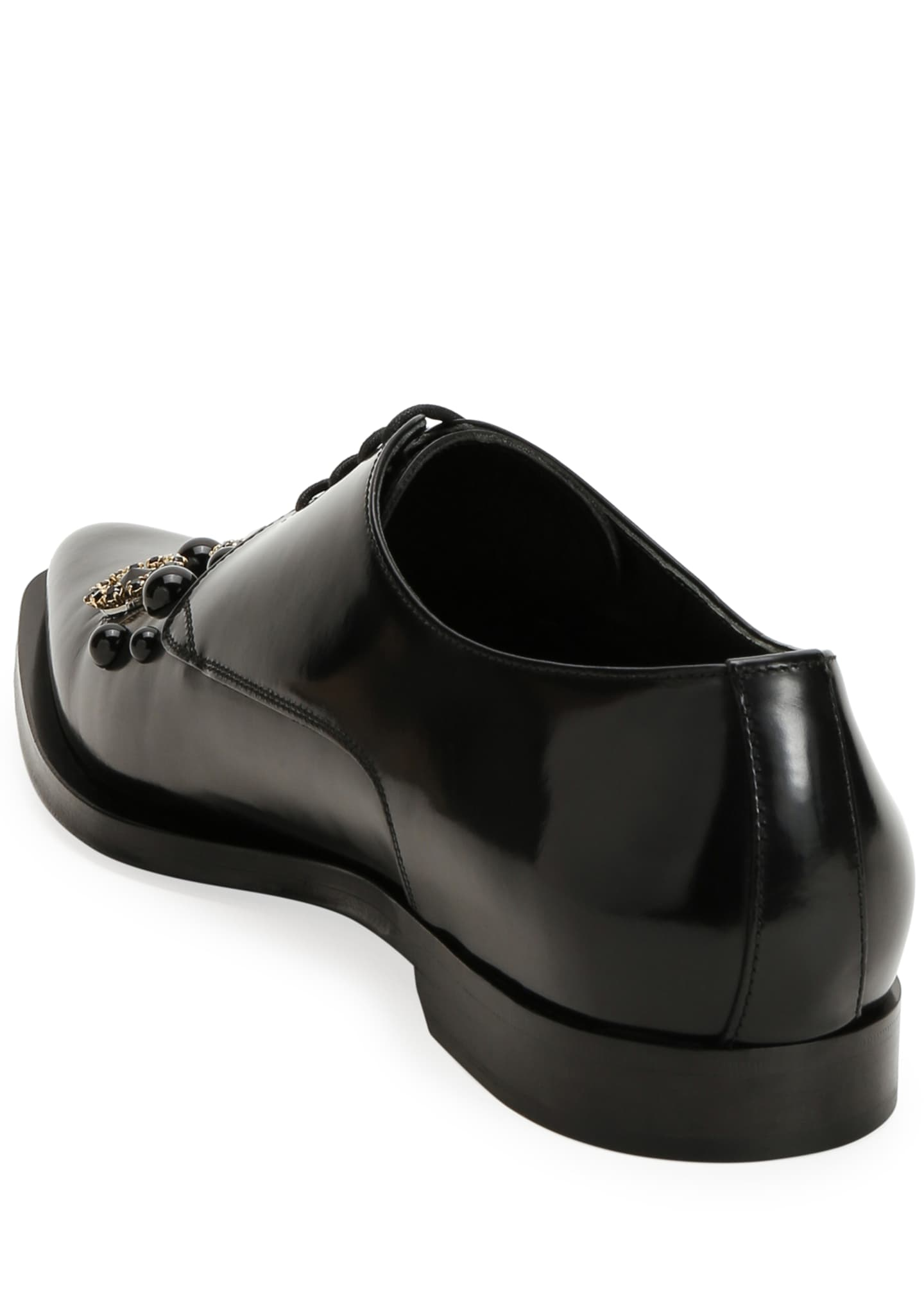 Image 4 of 4: Men's DNA Embellished Point-Toe Derby Shoes