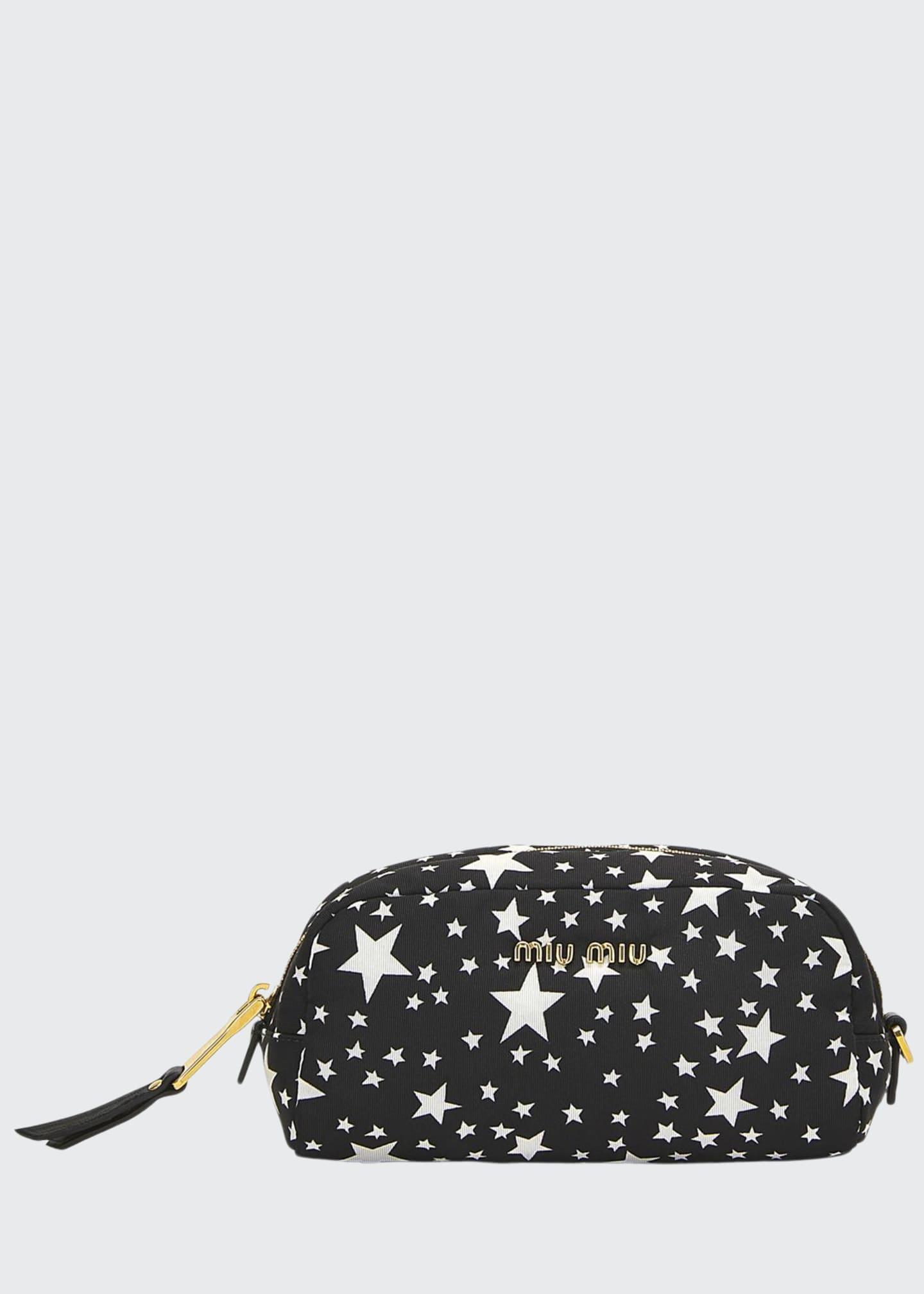 Miu Miu Faille Stelle Cosmetic Case Bag