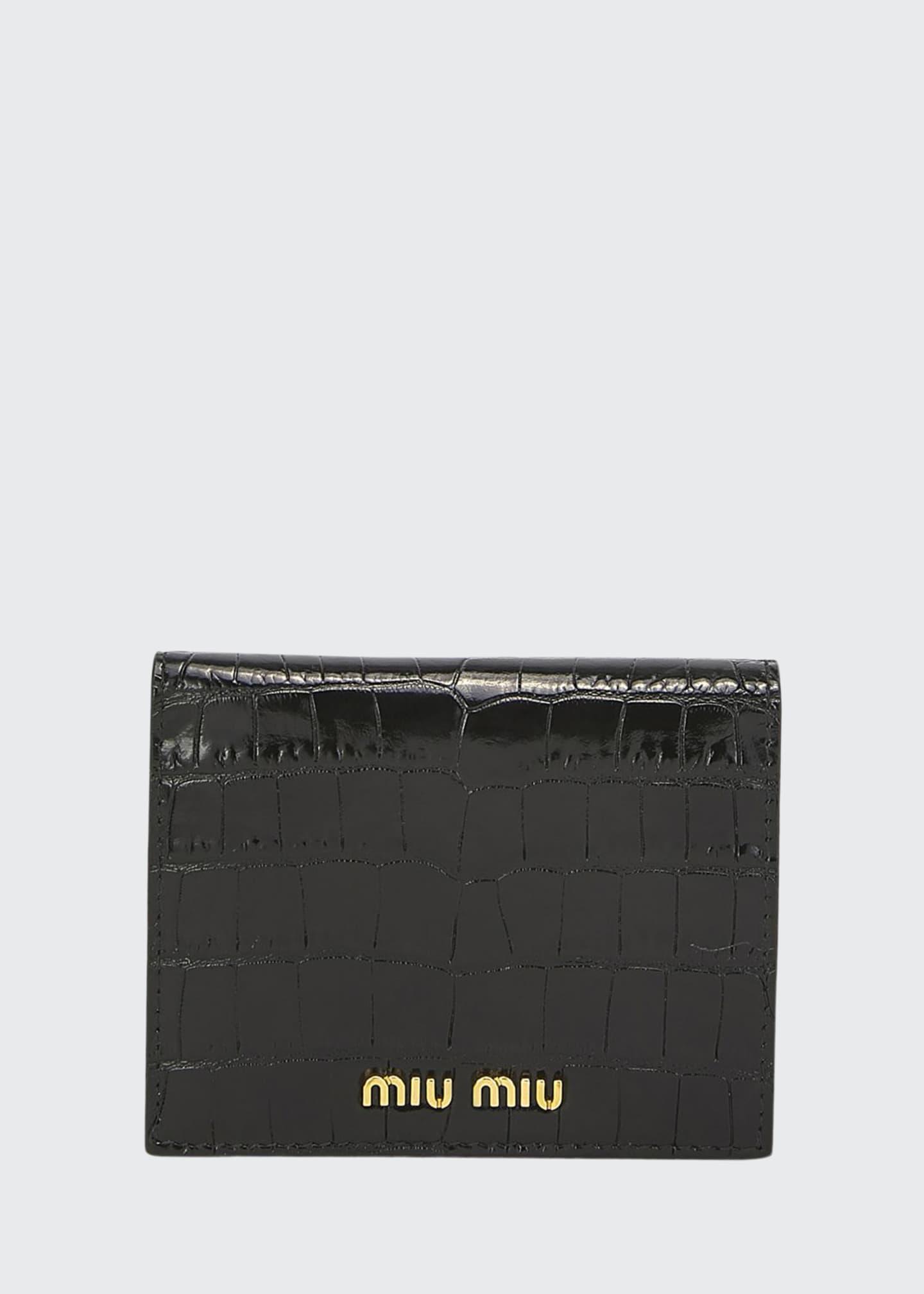 Miu Miu Croc-Embossed Wallet