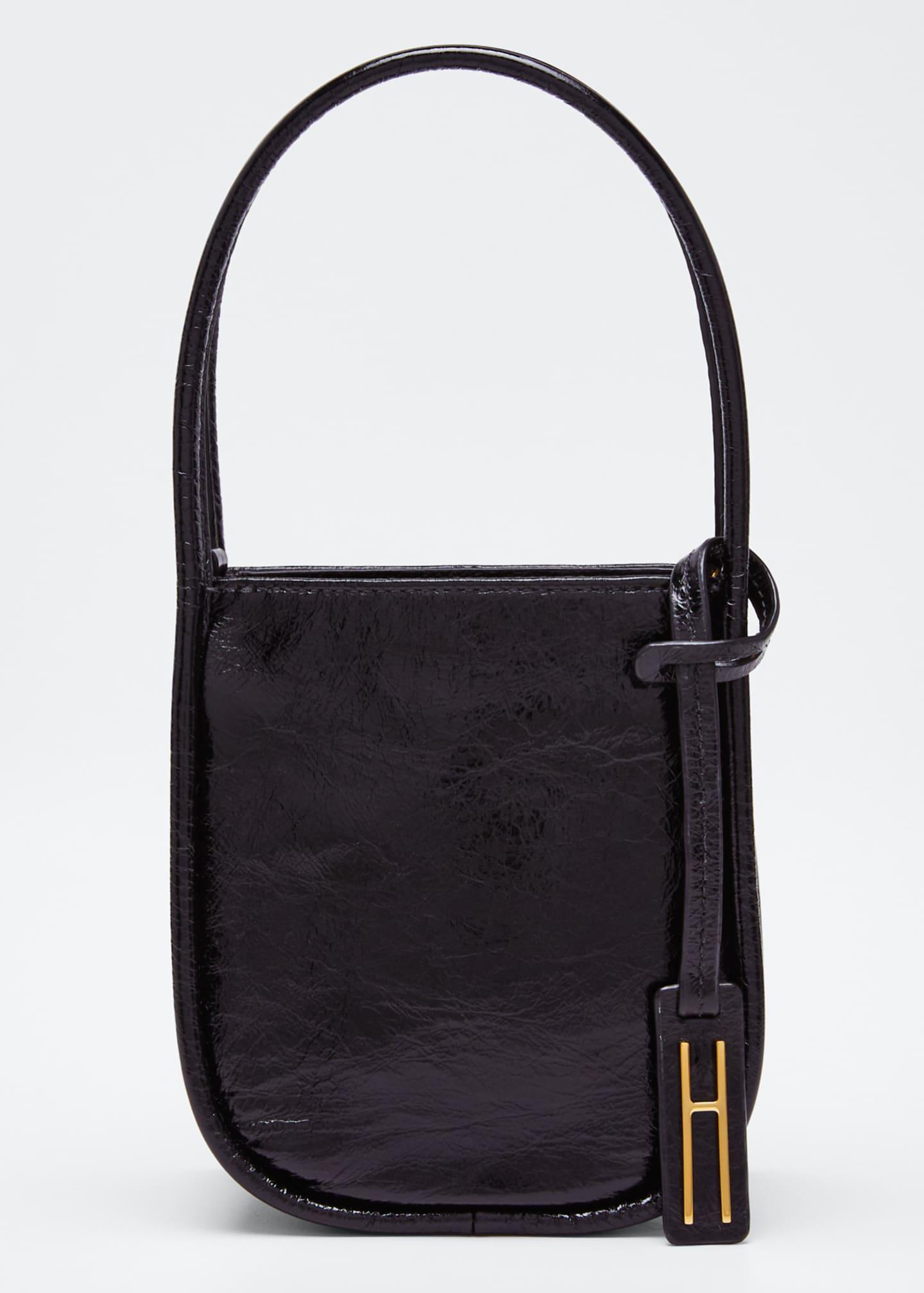 Hayward Guide Crinkled Leather Top-Handle Tote Bag