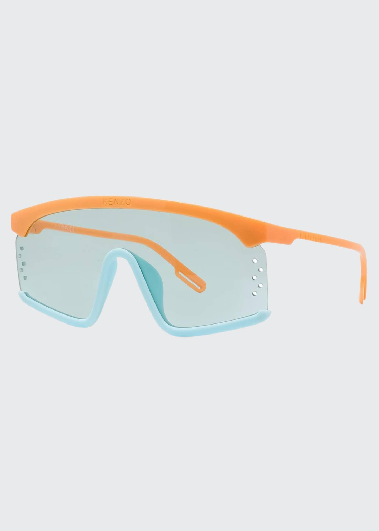 Kenzo Men's Two-Tone Acetate Shield Sunglasses