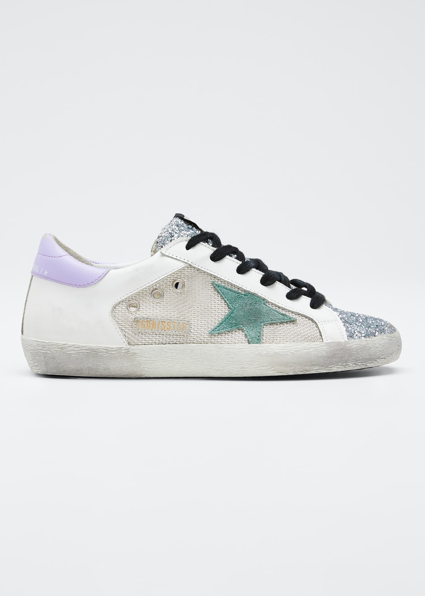 Golden Goose Superstar Glitter Flat Sneakers