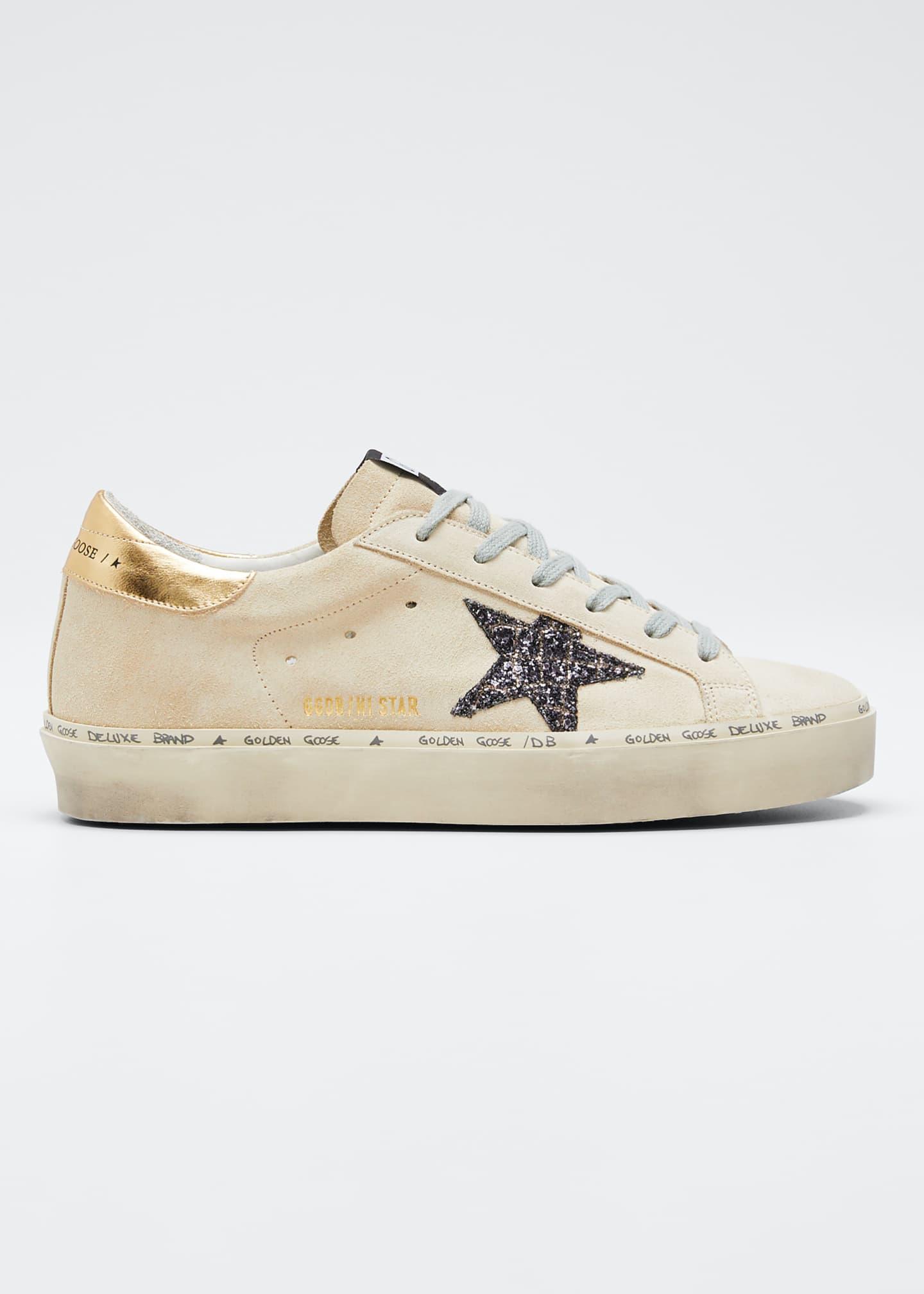 Golden Goose Hi Star Suede Low-Top Sneakers