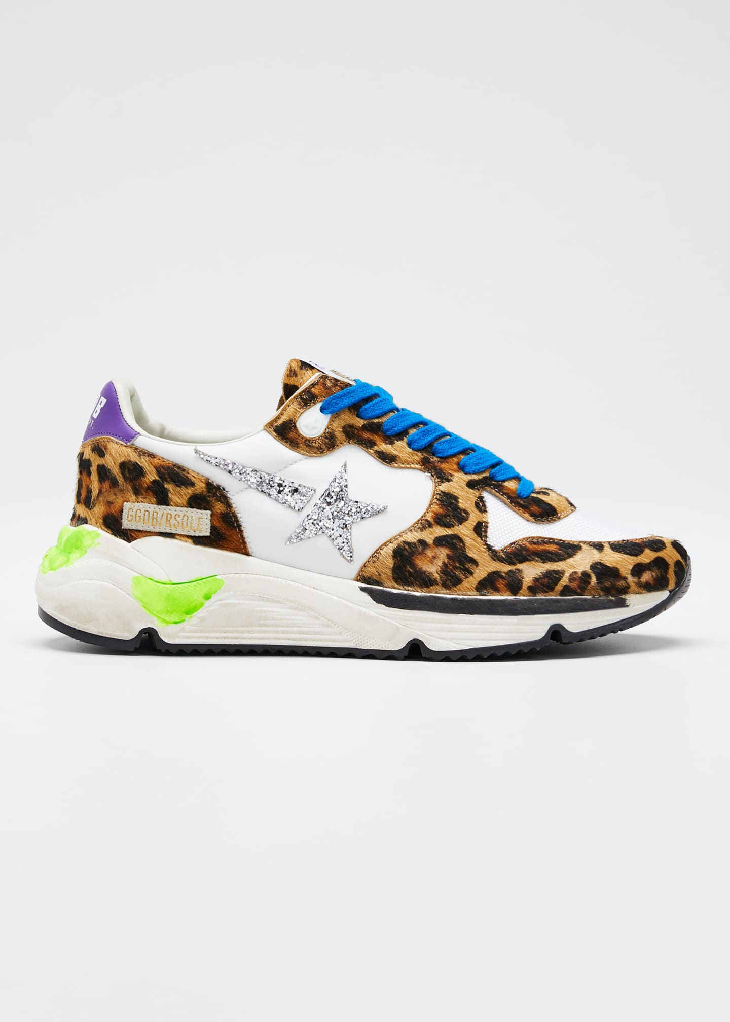 Golden Goose Running Leopard Shooting Star Sneakers