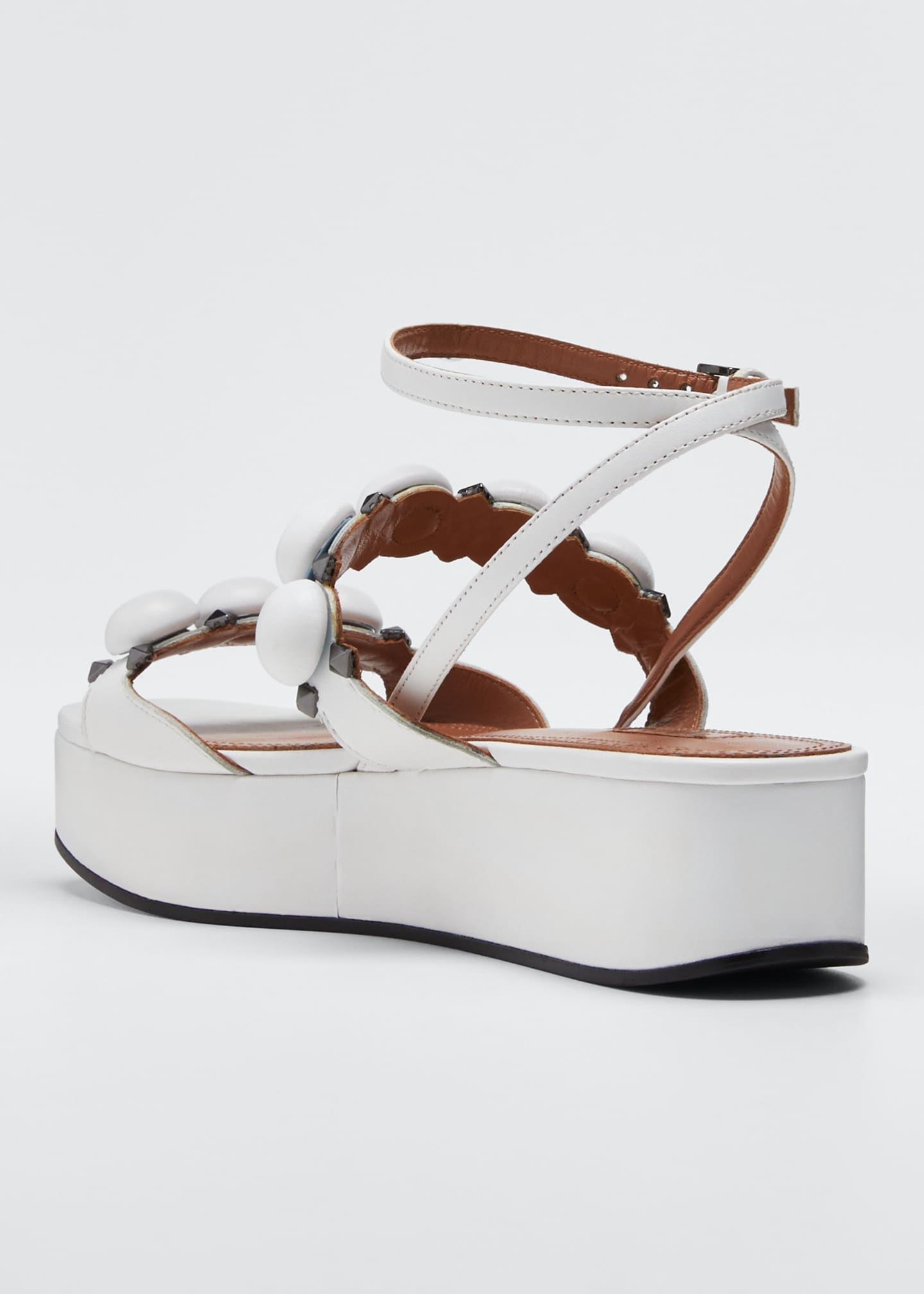 Image 2 of 3: Bombe Stud Leather Platform Sandals