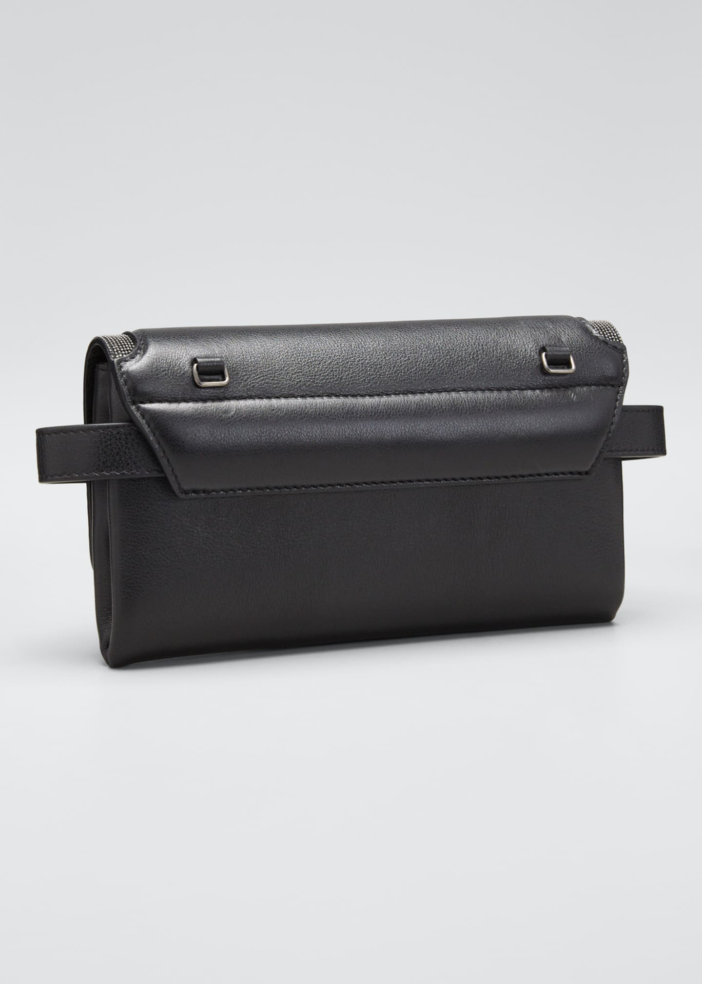 Image 3 of 5: Leather Flap-Top Belt Bag