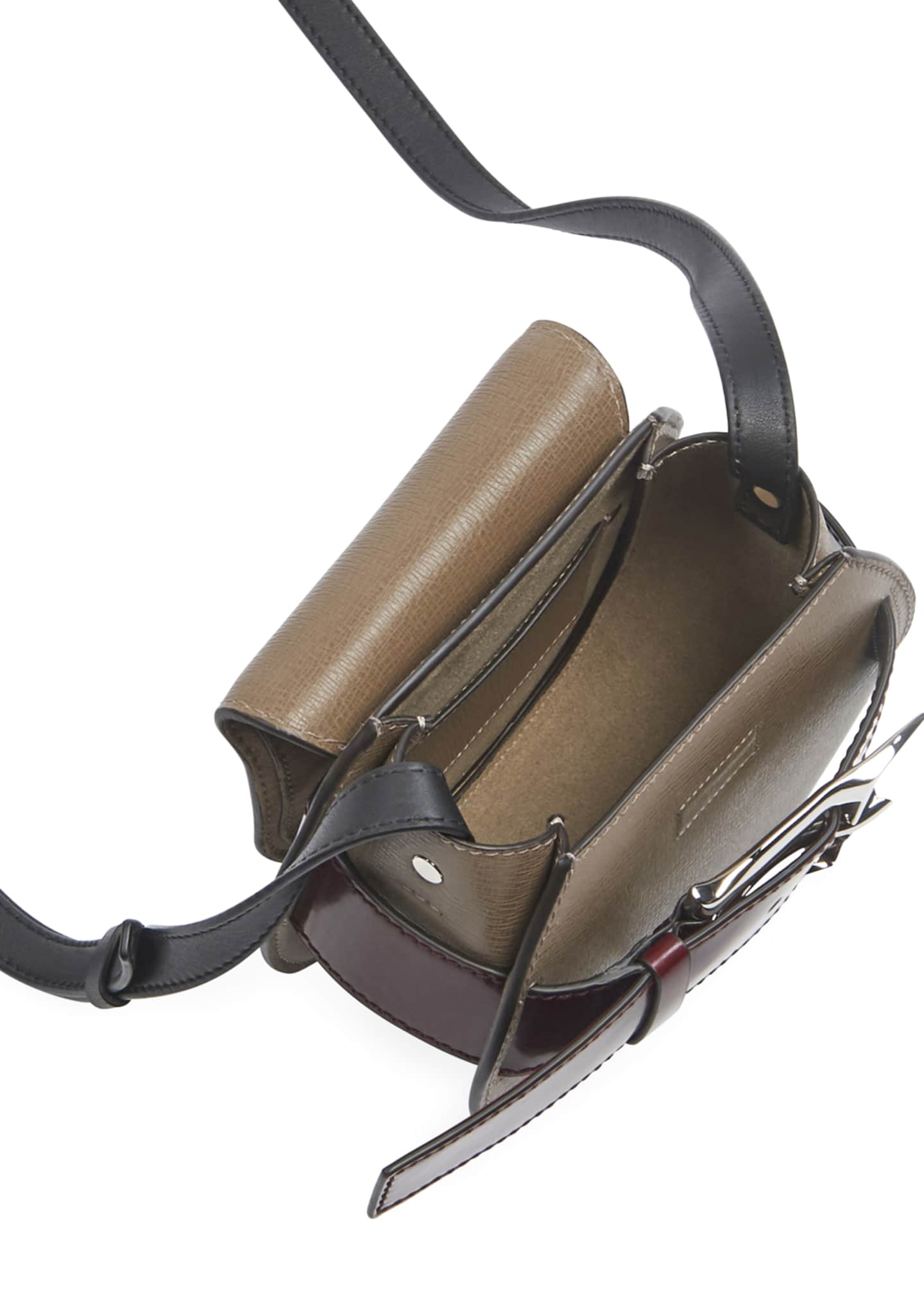 Image 2 of 3: Buckle Mini Crossbody Bag, Taupe