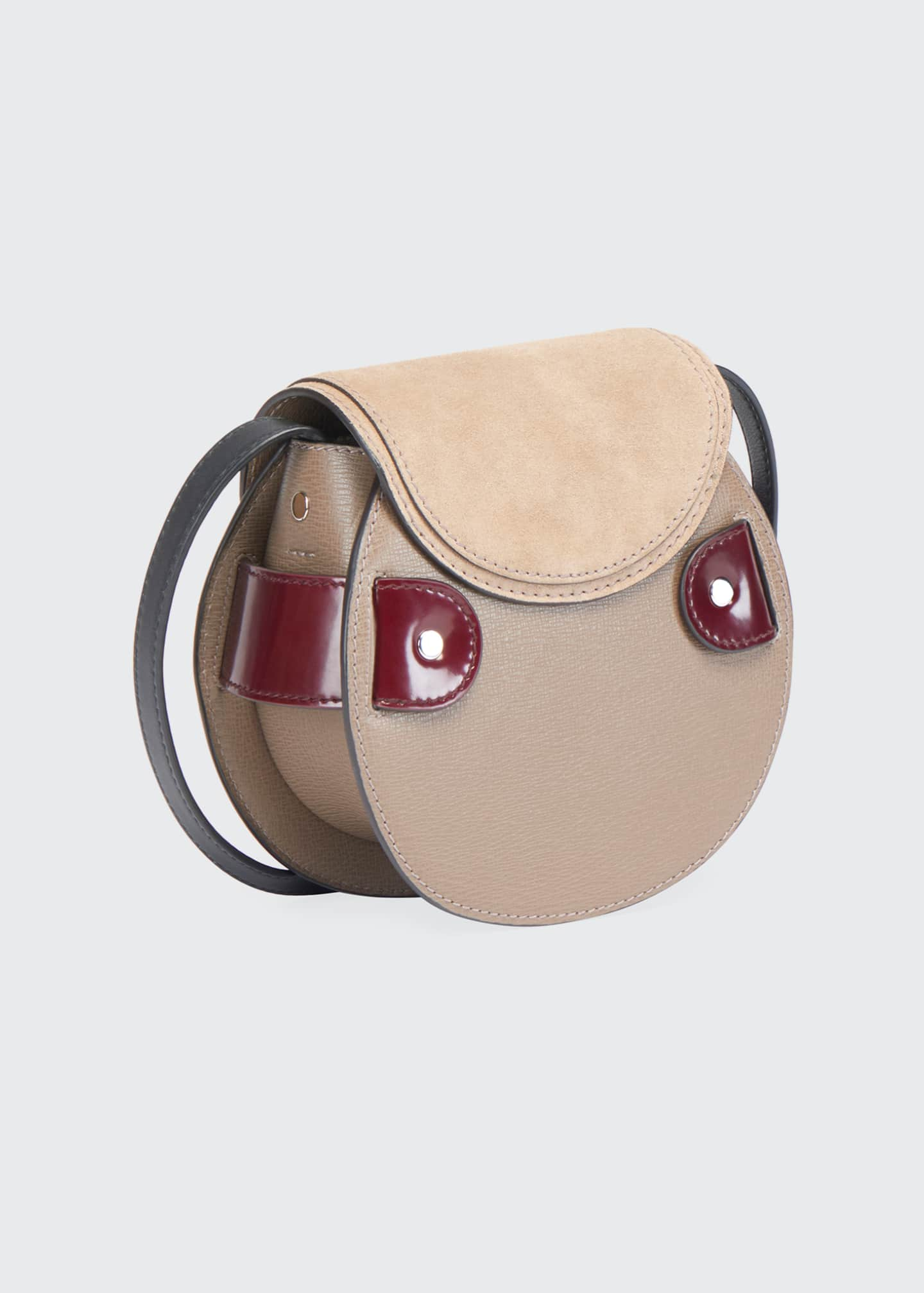 Image 3 of 3: Buckle Mini Crossbody Bag, Taupe