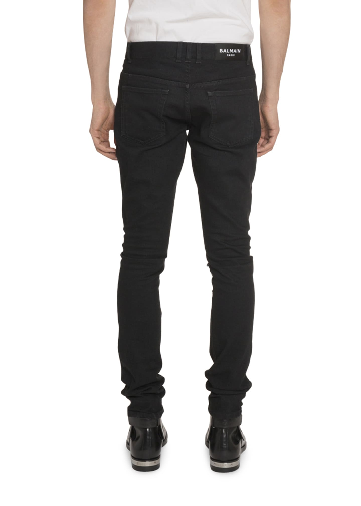 Image 2 of 2: Men's Slim-Fit Distressed Jeans