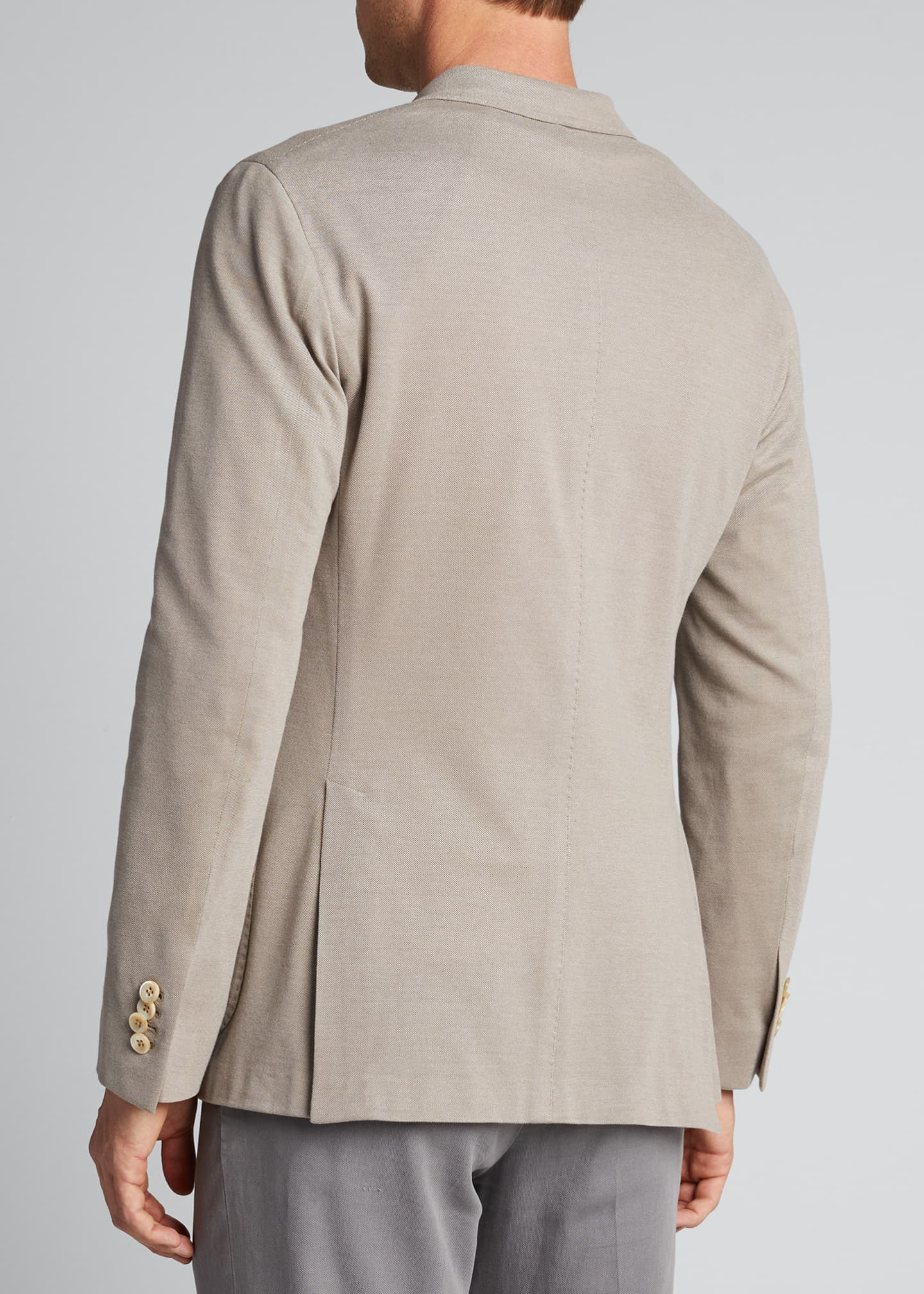 Image 2 of 5: Men's Solid Pique Knit Blazer