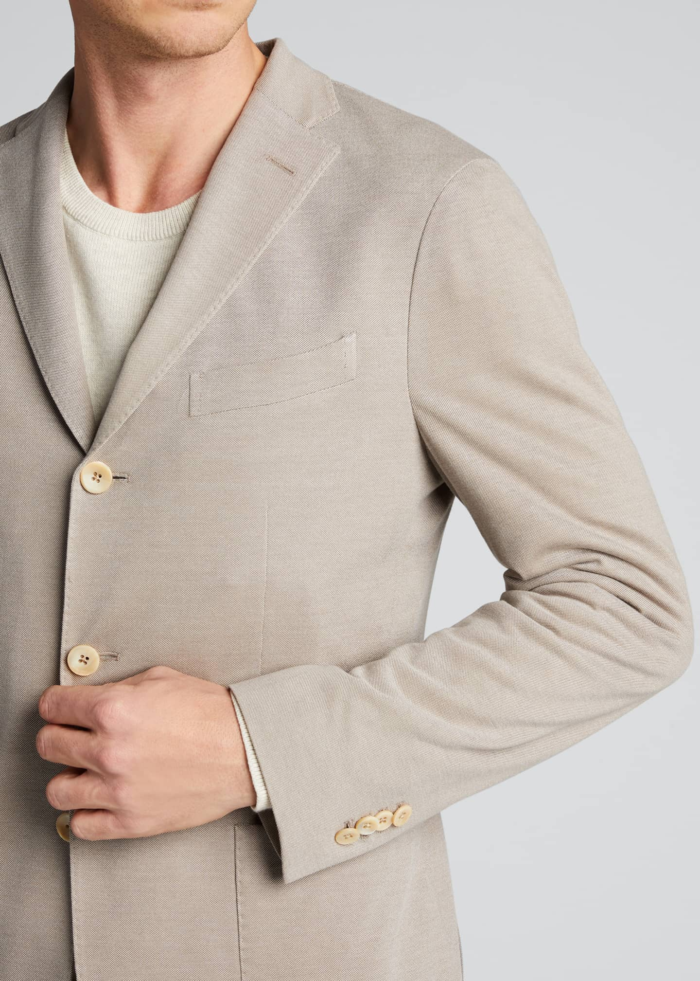 Image 4 of 5: Men's Solid Pique Knit Blazer