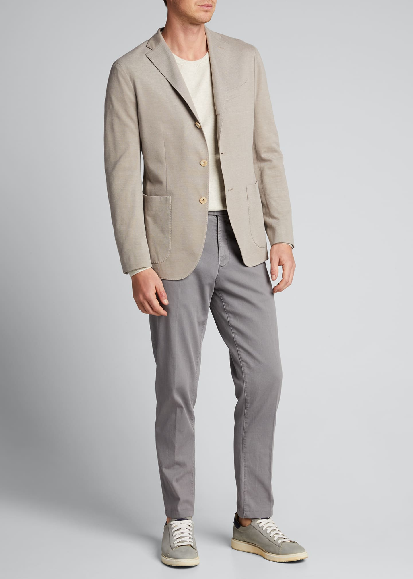 Image 1 of 5: Men's Solid Pique Knit Blazer