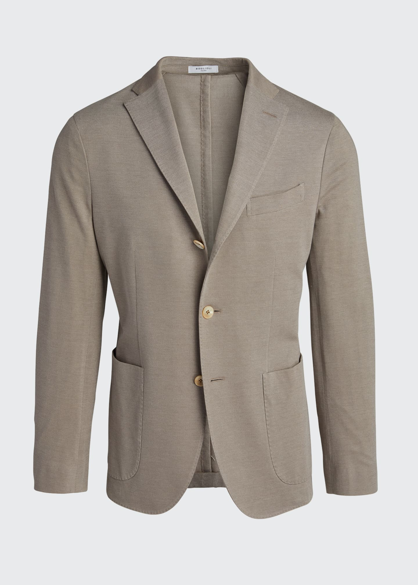 Image 5 of 5: Men's Solid Pique Knit Blazer