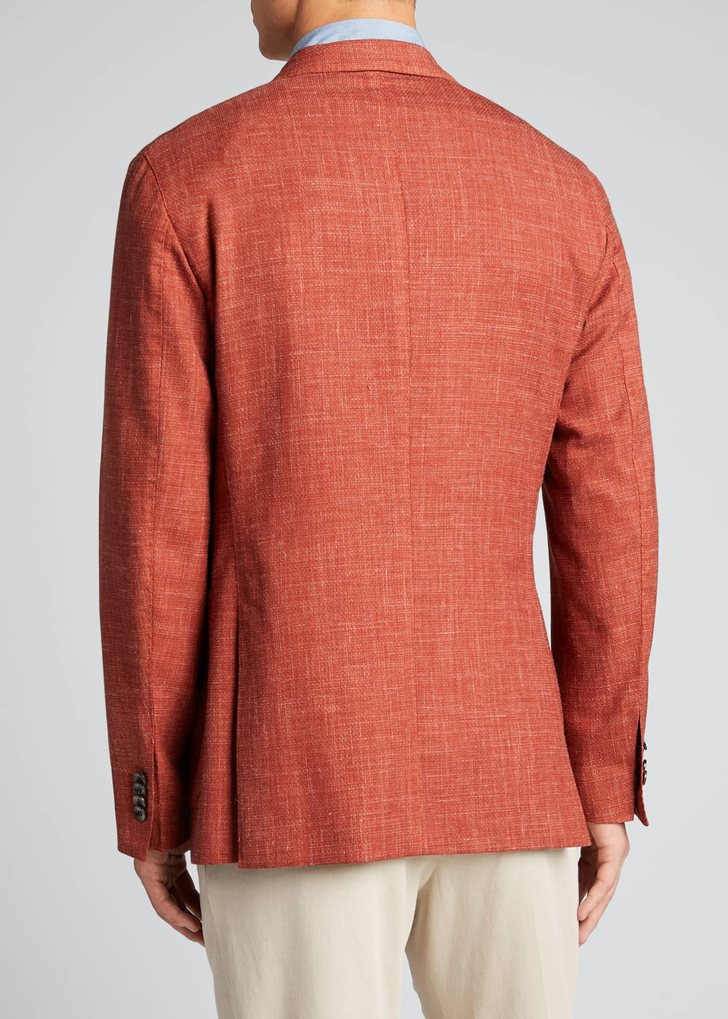 Image 2 of 5: Men's Melange Wool-Blend Blazer