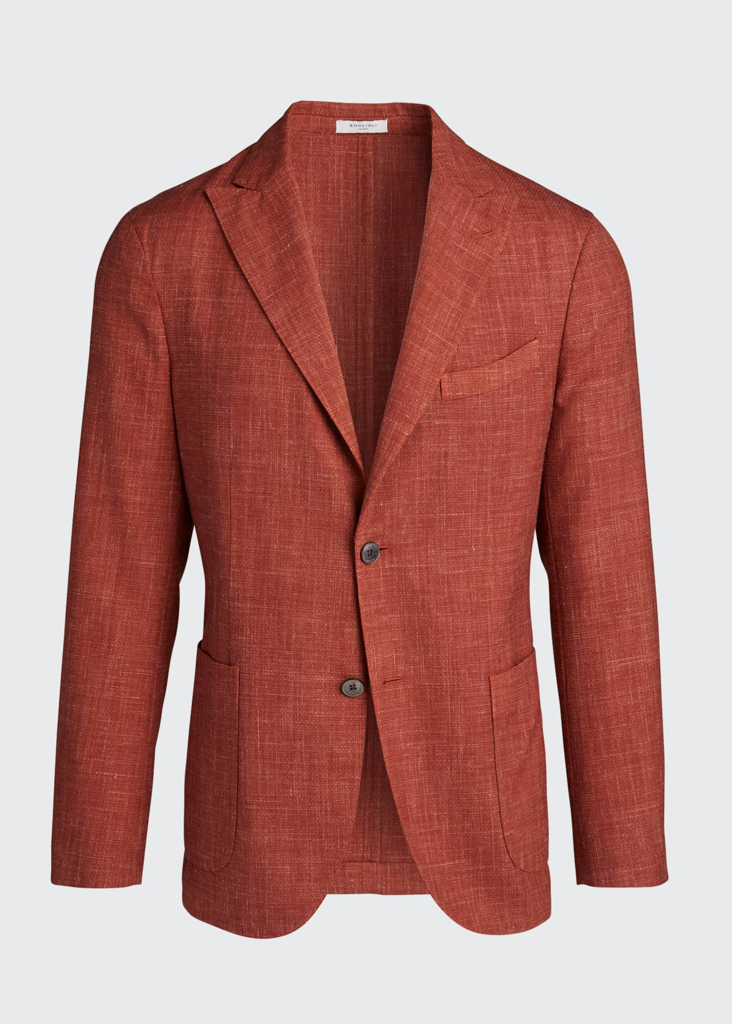 Image 5 of 5: Men's Melange Wool-Blend Blazer