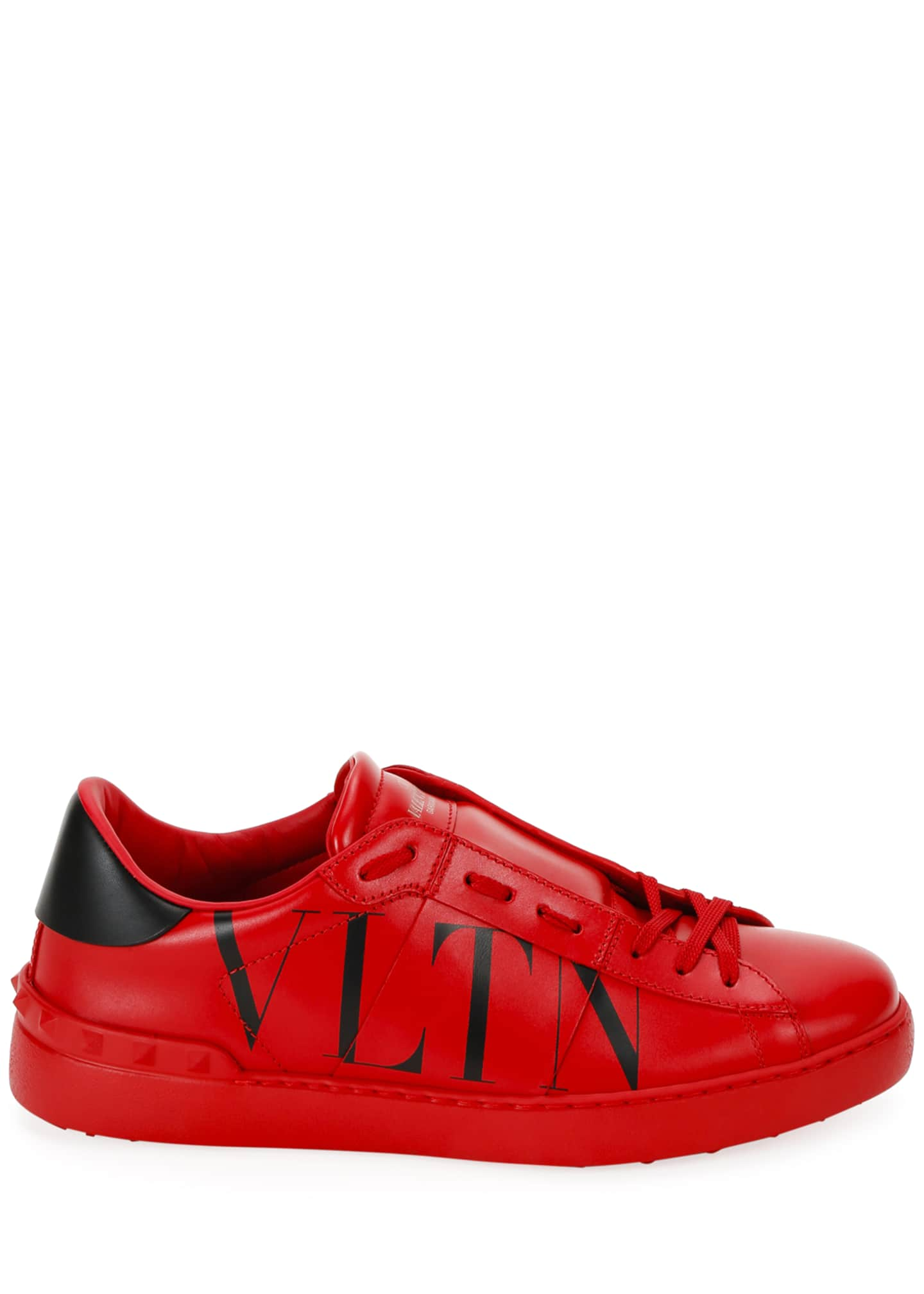 Image 2 of 4: Men's Rockstud Walker VLTN Leather Sneakers