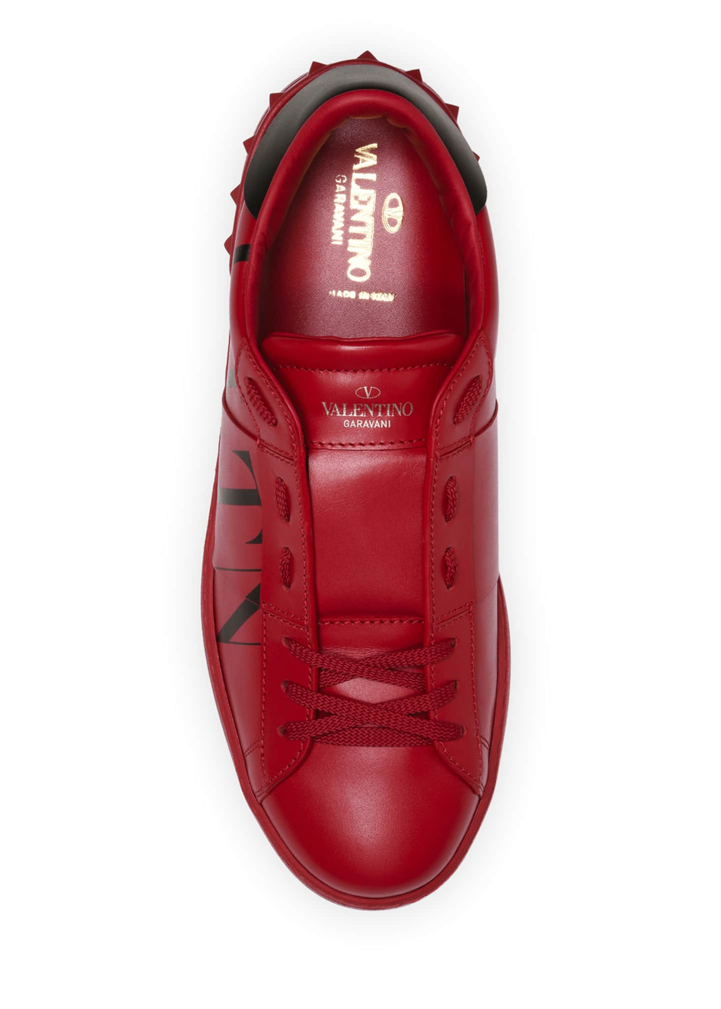 Image 3 of 4: Men's Rockstud Walker VLTN Leather Sneakers