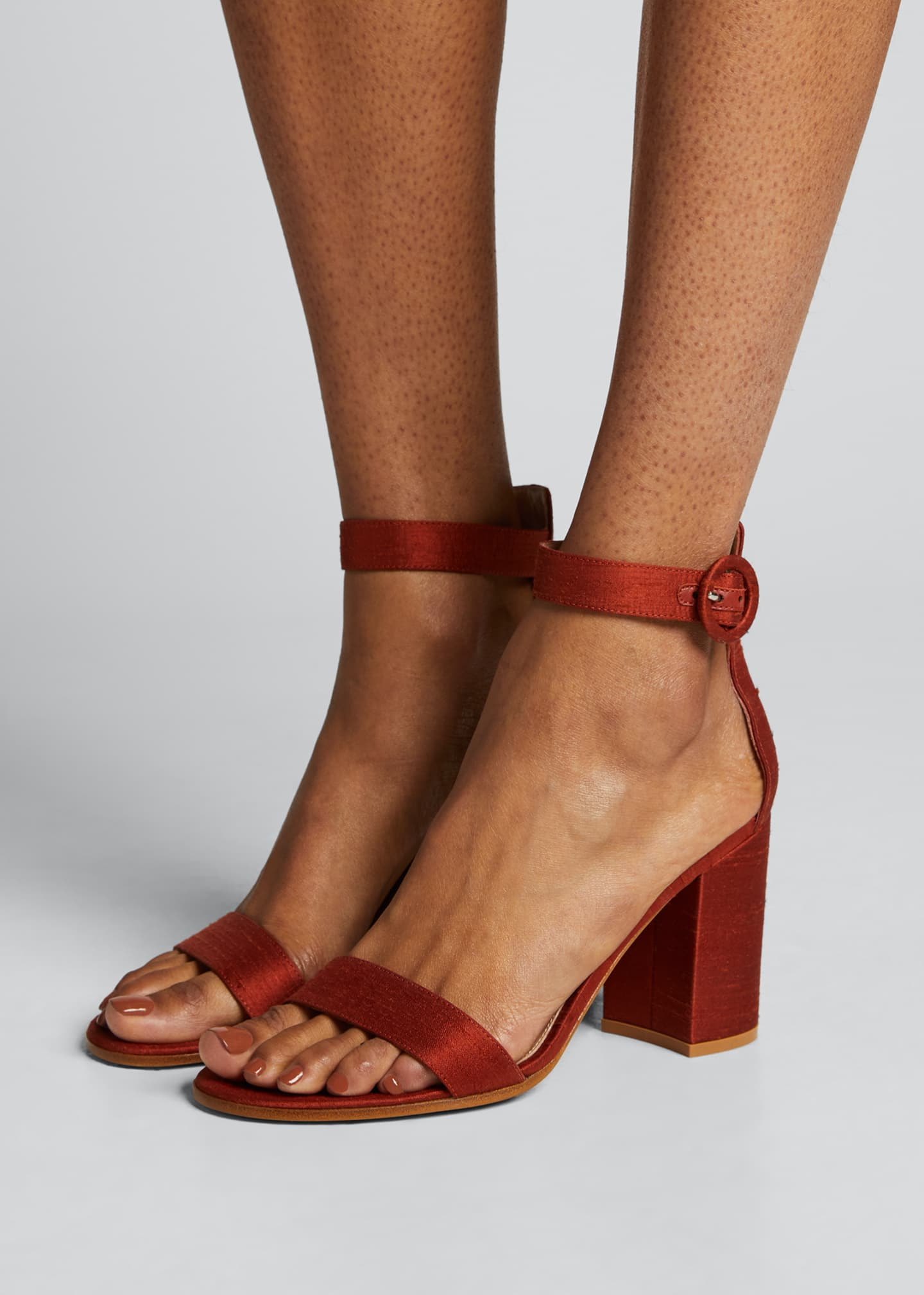 Image 2 of 5: Shantung Ankle-Strap Sandals