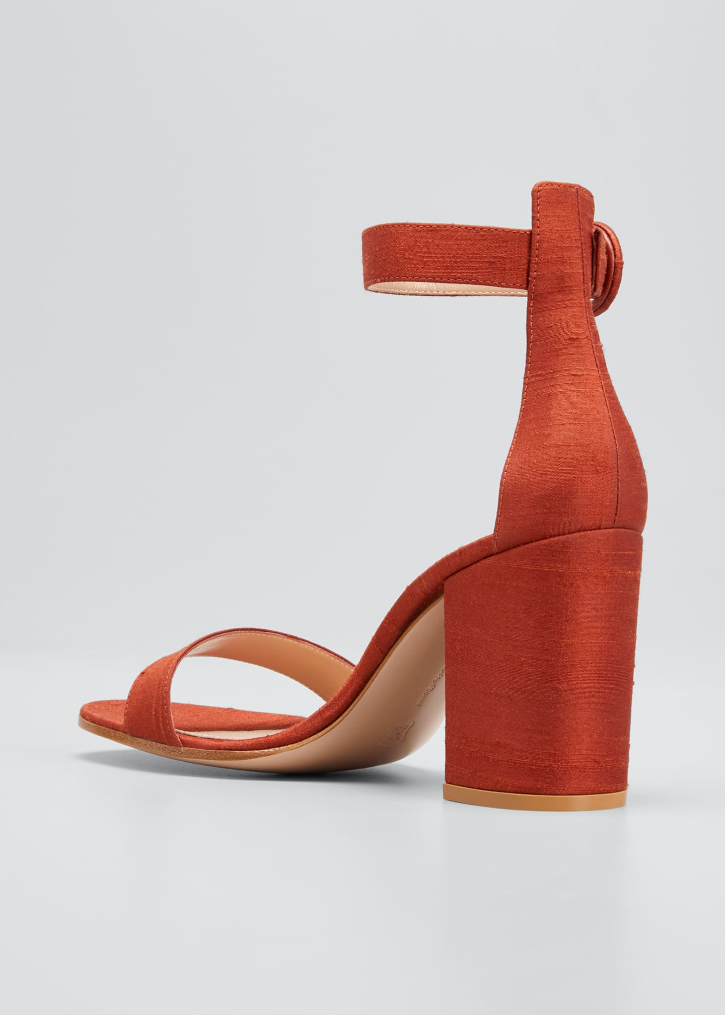 Image 4 of 5: Shantung Ankle-Strap Sandals