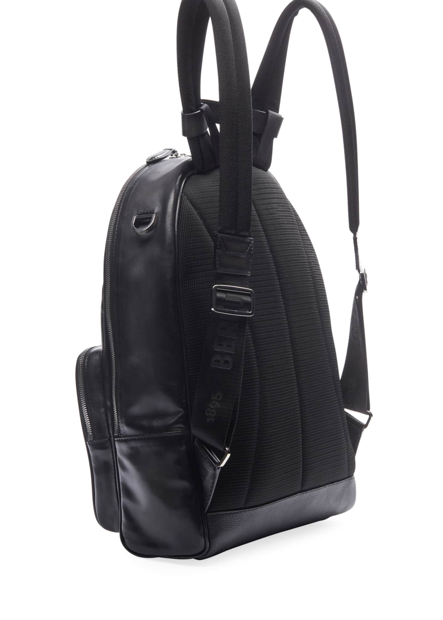 Image 2 of 3: Men's Time off Venezia Solid Leather Backpack