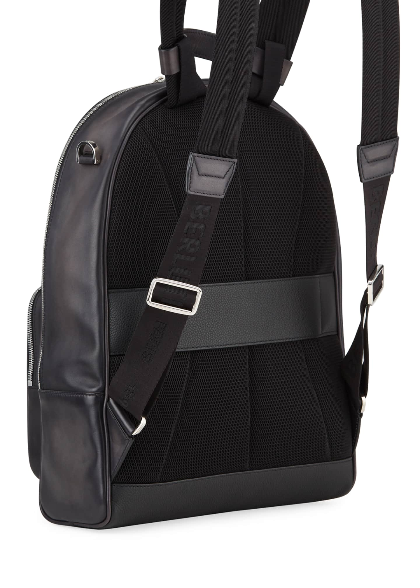 Image 3 of 3: Men's Time off Venezia Solid Leather Backpack