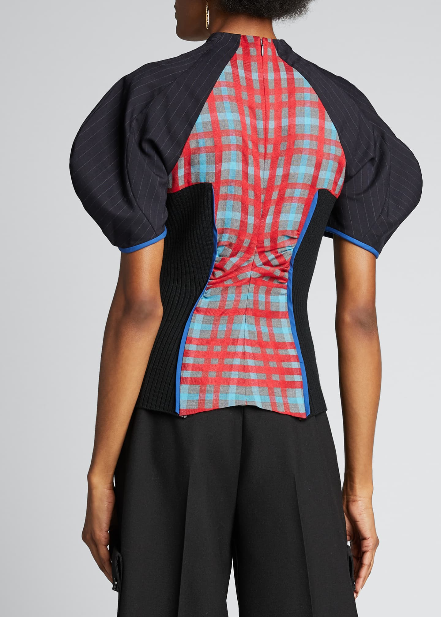 Image 2 of 5: Colorblocked Woven Full-Sleeve Shirt