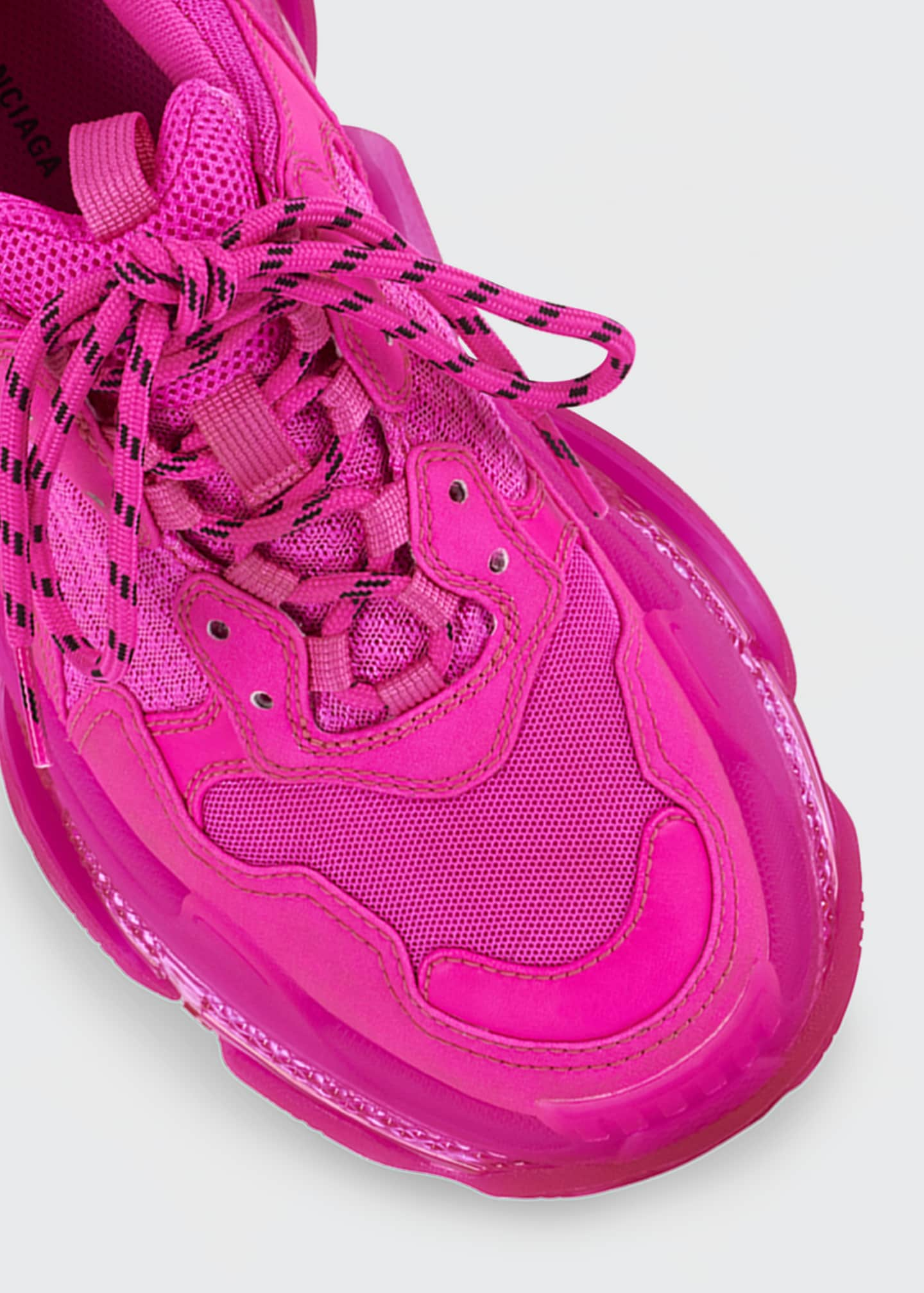 Image 4 of 4: Triple S Neon Trainer Sneakers