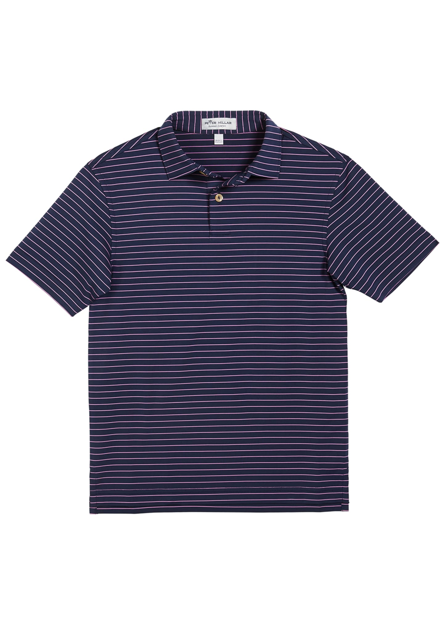 Peter Millar Boy's Crafty Stripe Polo Shirt, Size