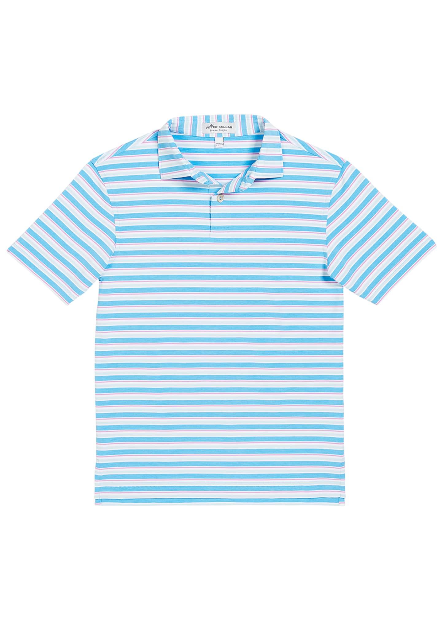 Peter Millar Boy's Multi-Stripe Polo Shirt, Size XXS-XL