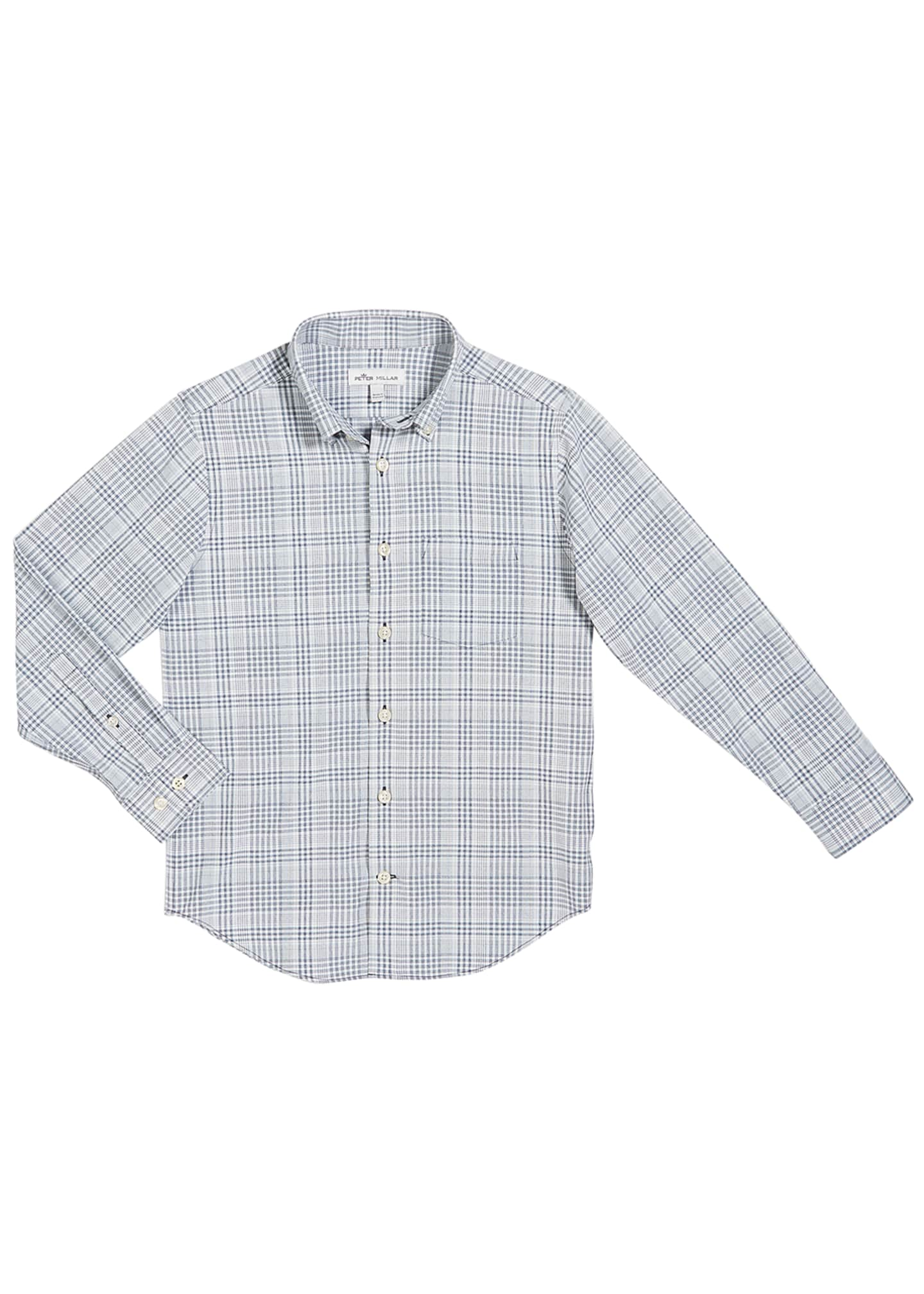 Peter Millar Boy's Check Performance Shirt, Size XXS-XL