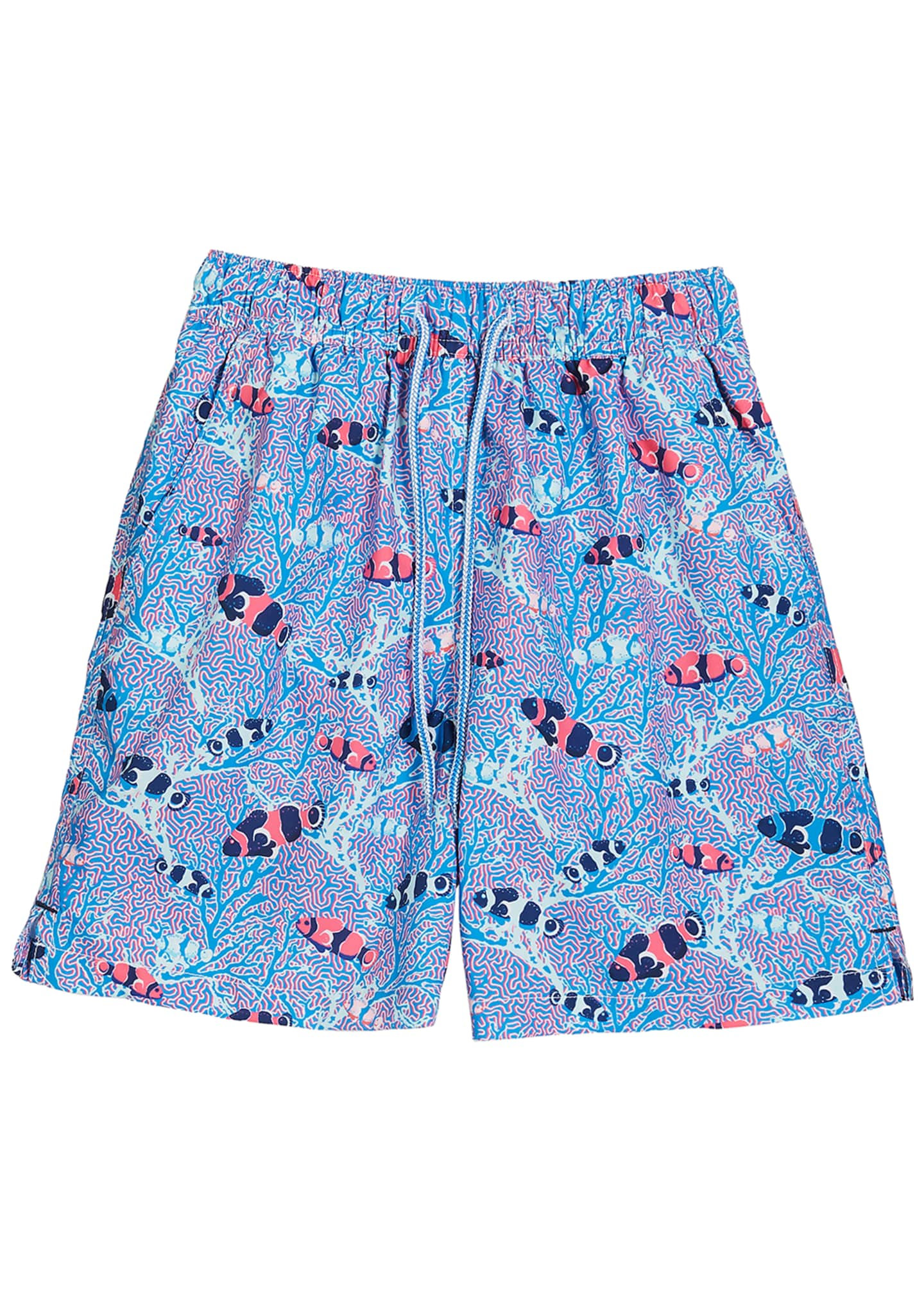 Peter Millar Boy's Friends & Anemones Print Swim