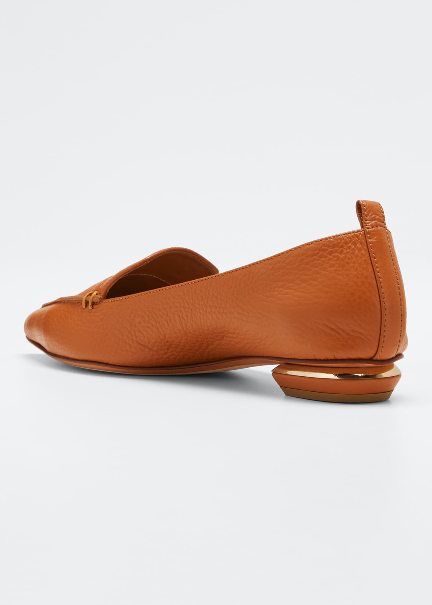 Image 2 of 3: Beya Pebbled Flat Loafers