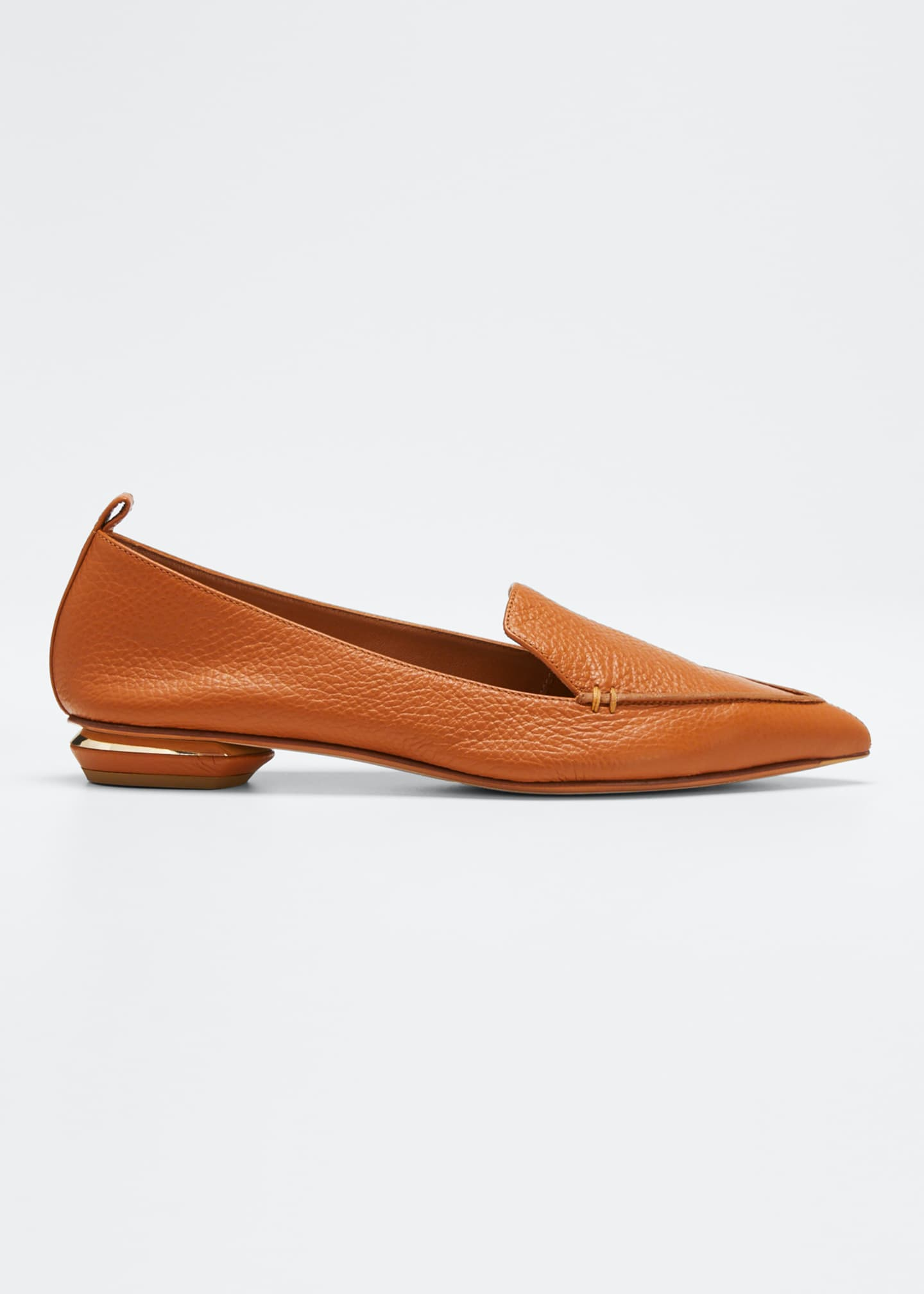 Image 1 of 3: Beya Pebbled Flat Loafers