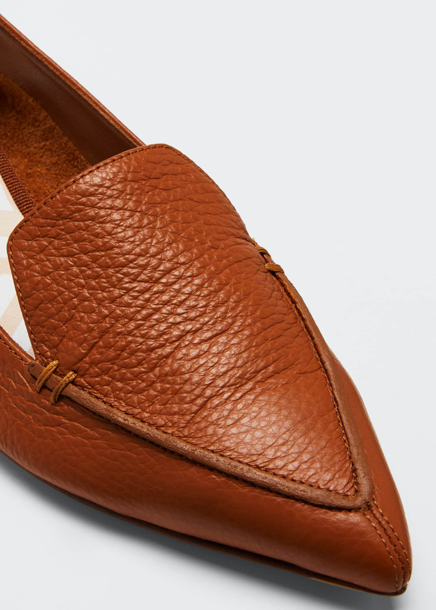 Image 3 of 3: Beya Pebbled Flat Loafers
