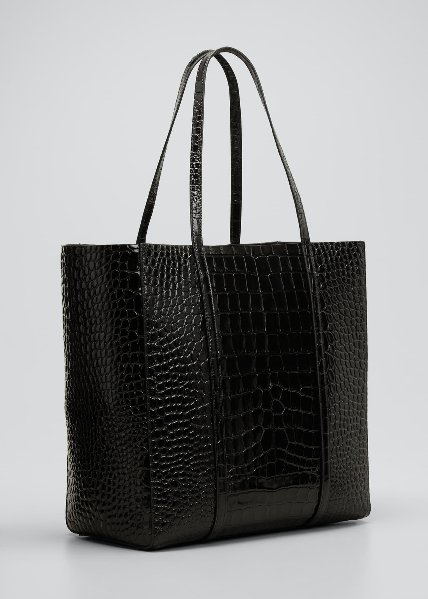 Image 3 of 5: Everyday Small Shiny Embossed Croc Tote Bag