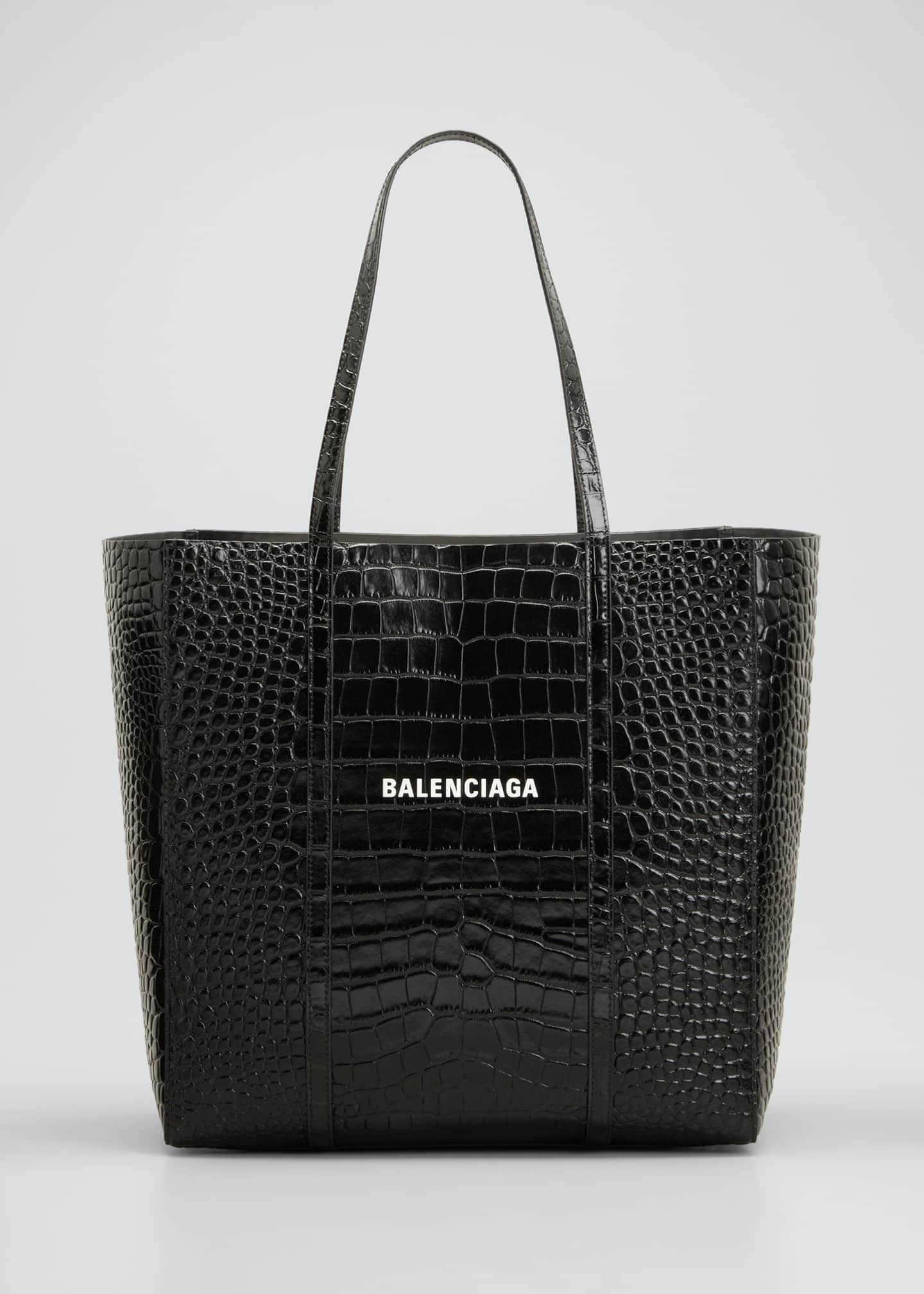Image 1 of 5: Everyday Small Shiny Embossed Croc Tote Bag