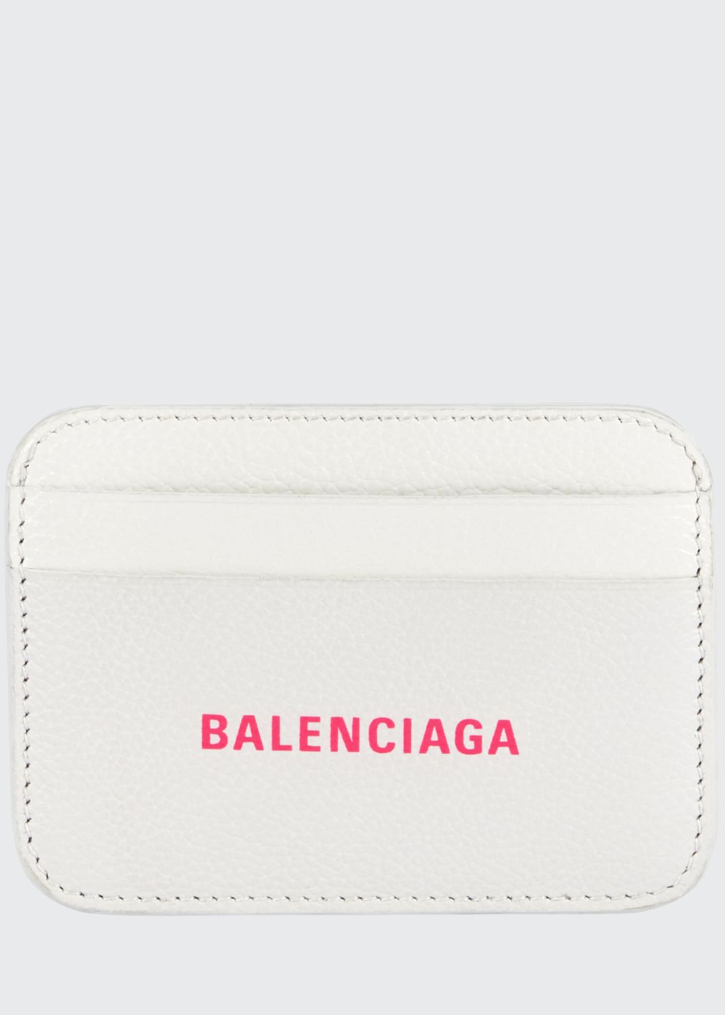 Balenciaga Grained Cash Card Holder