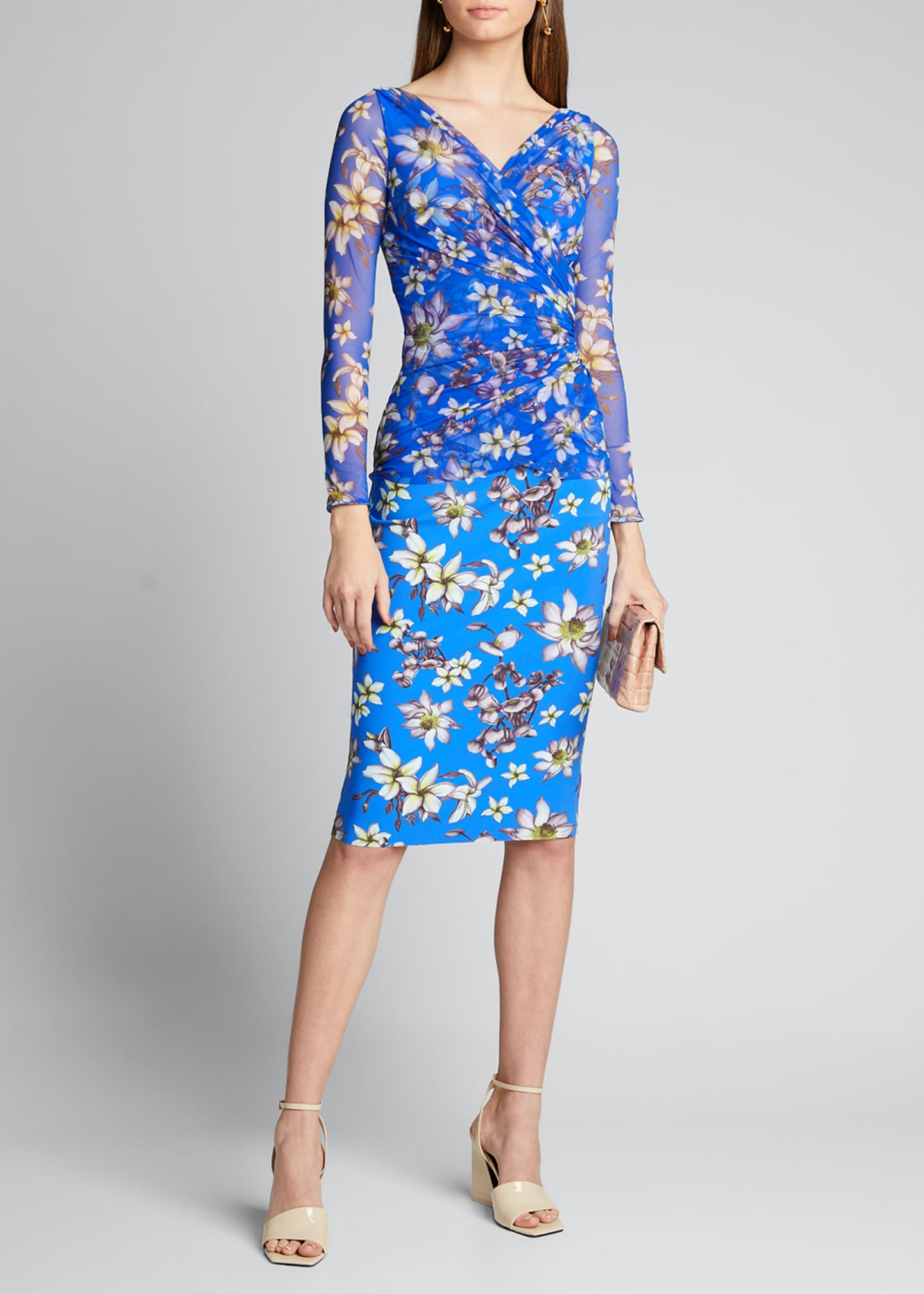 Chiara Boni La Petite Robe Floral V-Neck Long