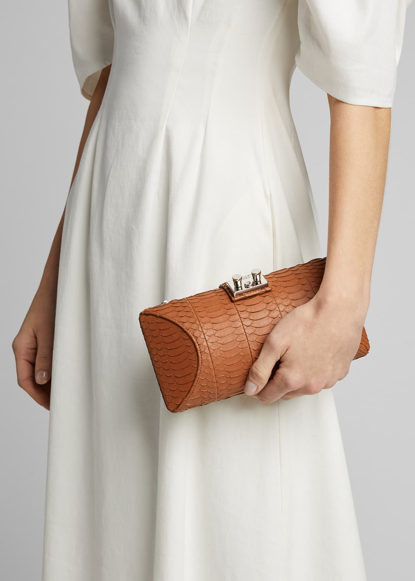 Image 2 of 5: Snake Clutch Bag