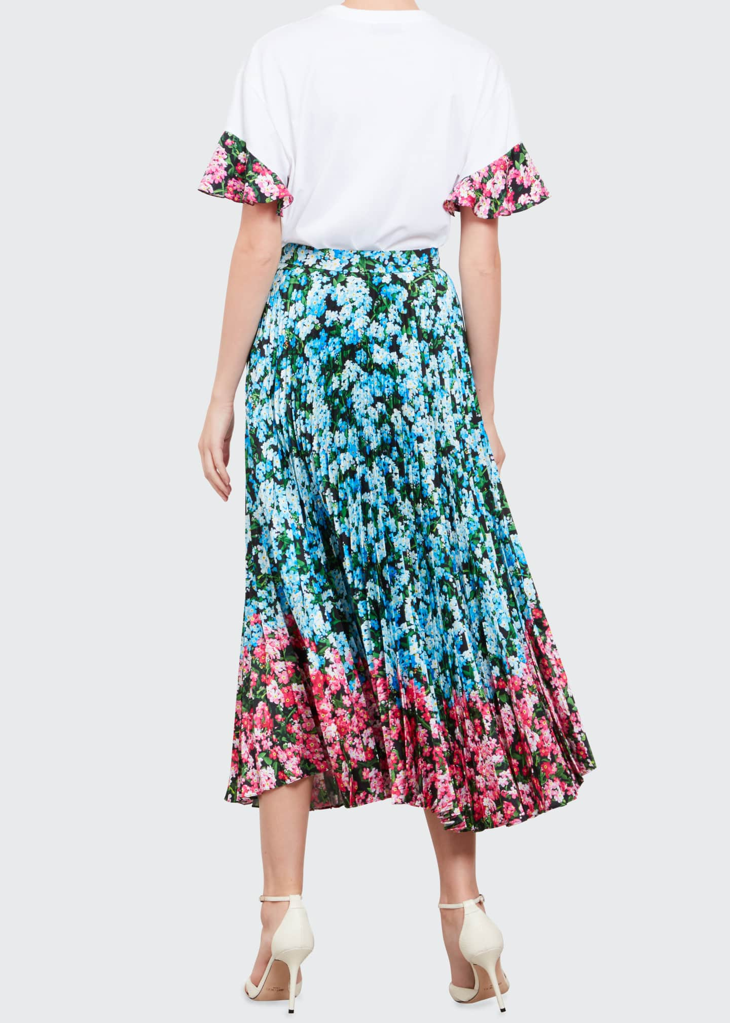Image 2 of 3: Floral Combo Maxi Uni Skirt