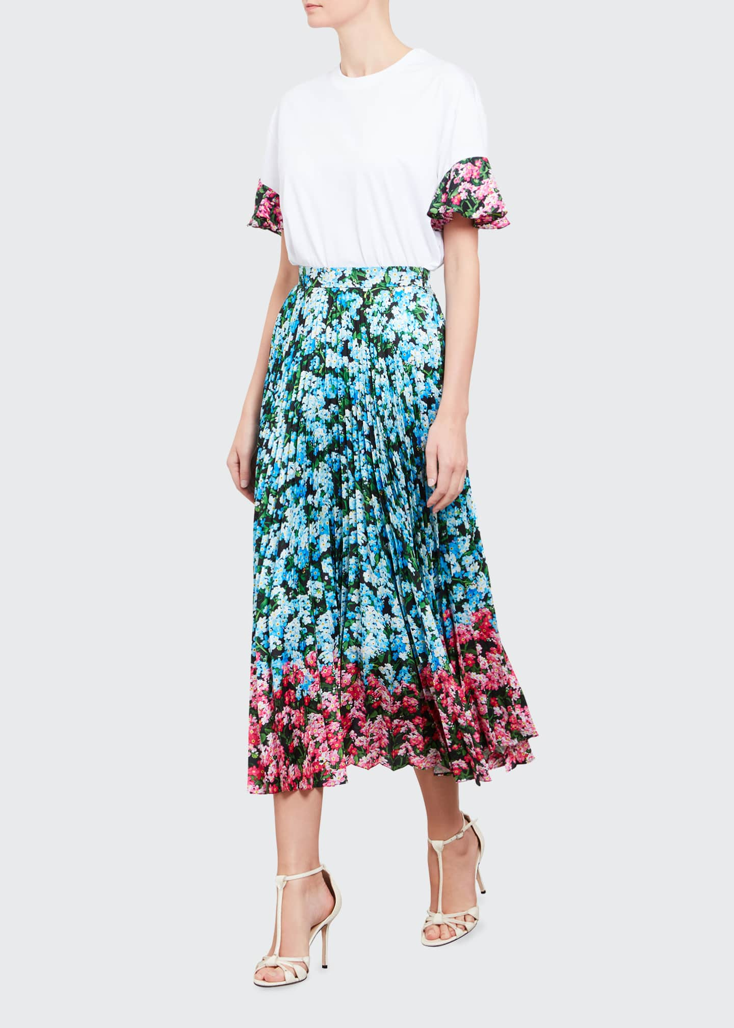 Image 1 of 3: Floral Combo Maxi Uni Skirt