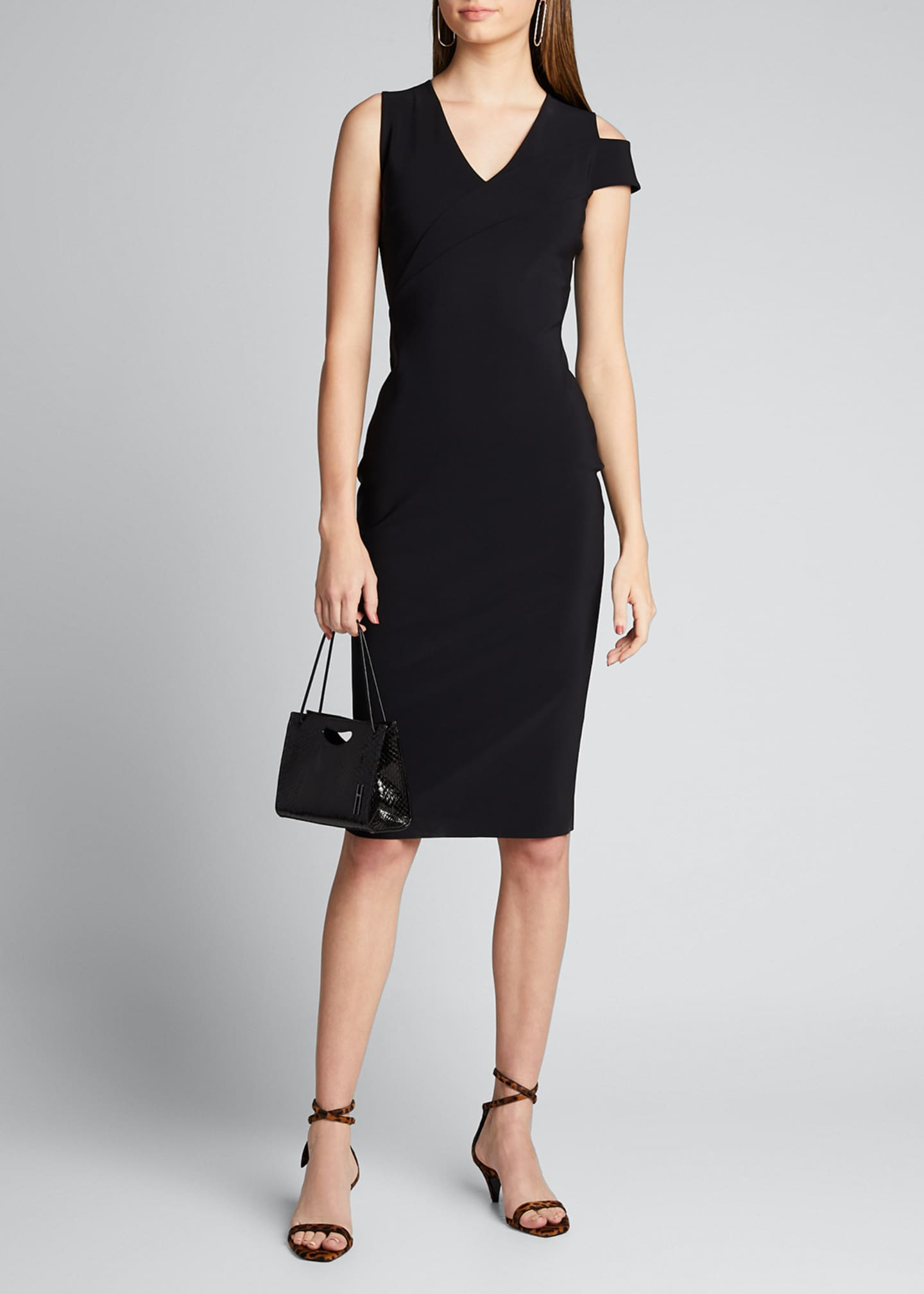Chiara Boni La Petite Robe Asymmetric Shoulder V-Neck