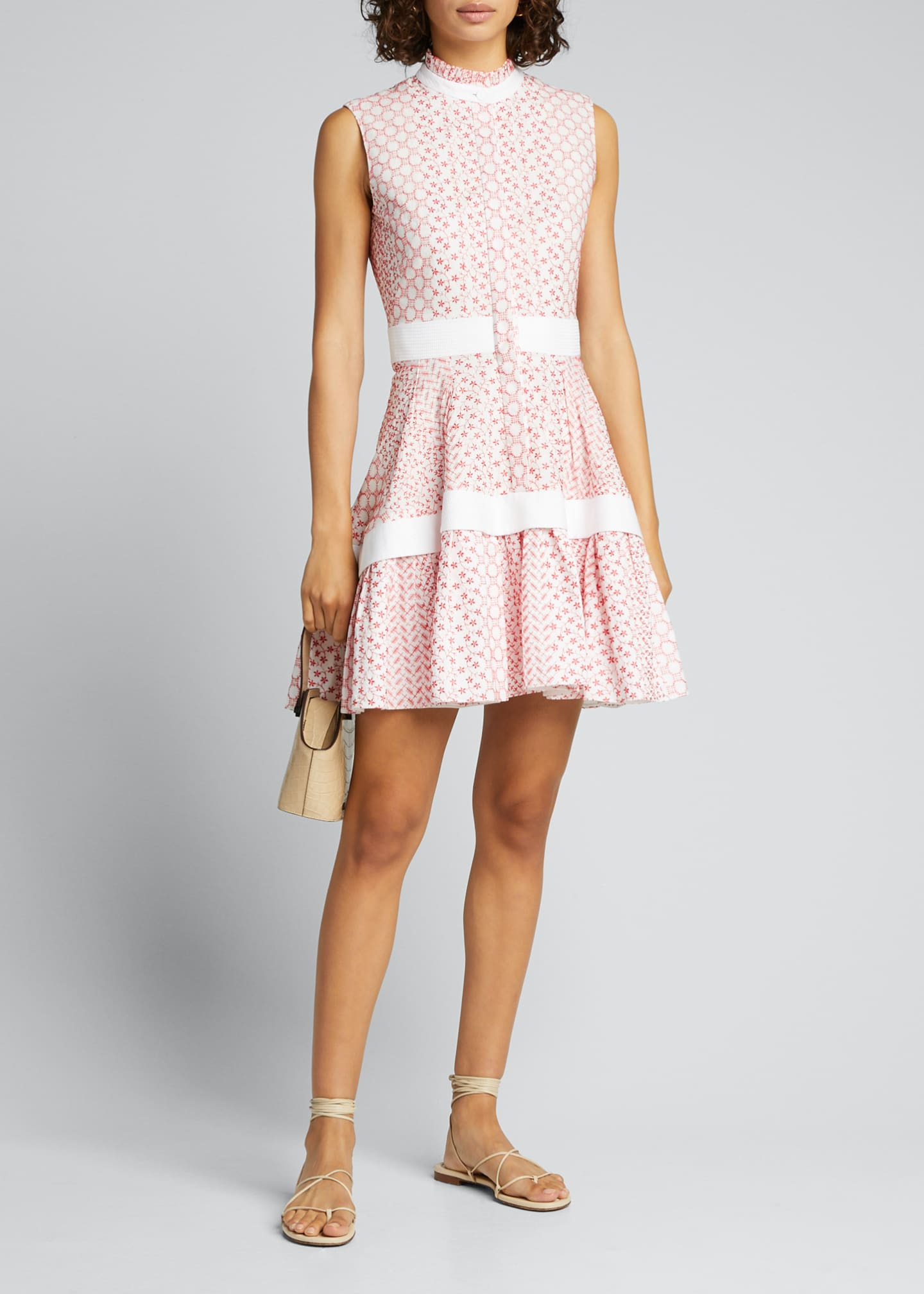 Alexis Suriya Embroidered Sleeveless Flare Dress