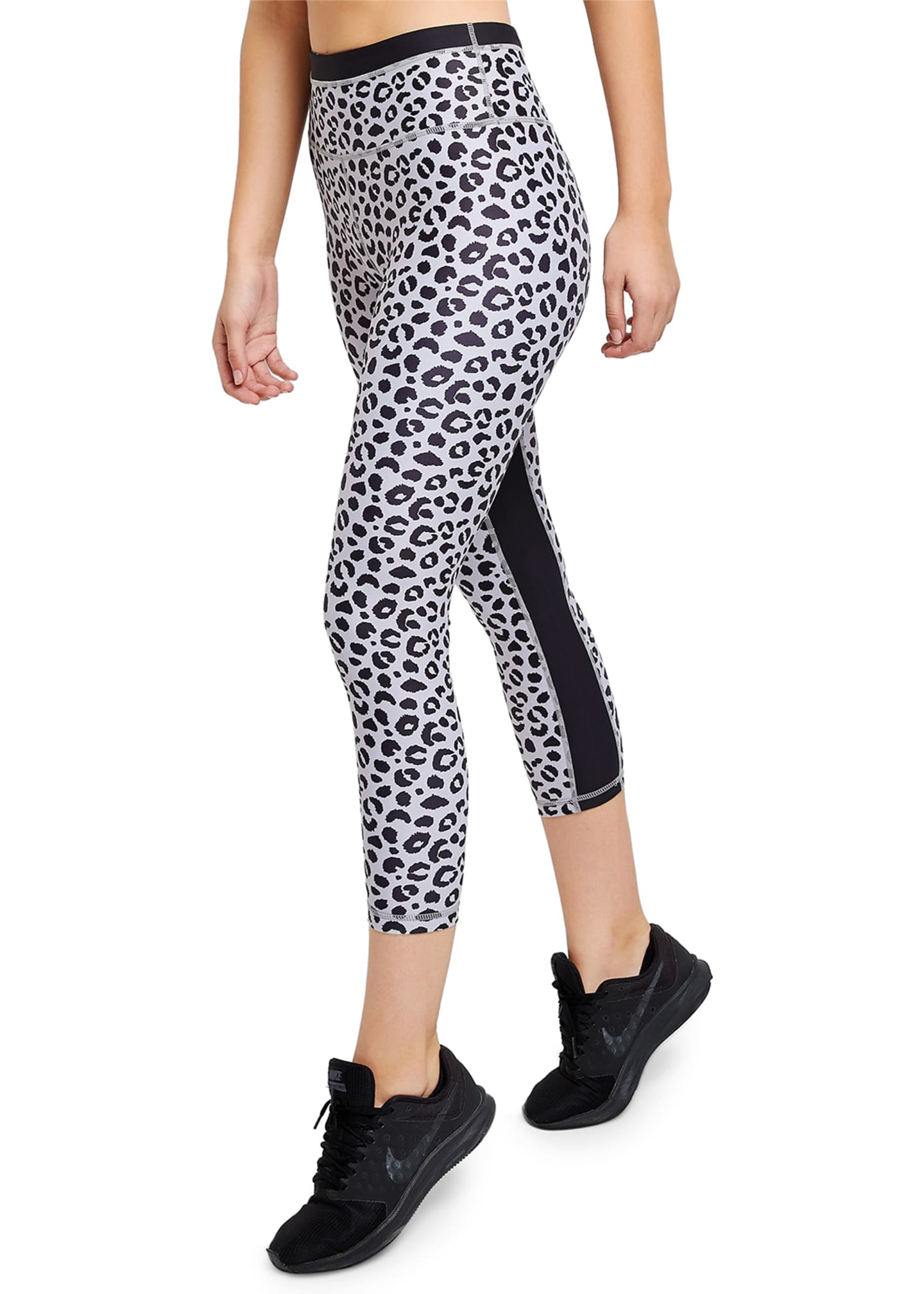 Image 2 of 3: Jagger Leopard-Print Cropped Leggings