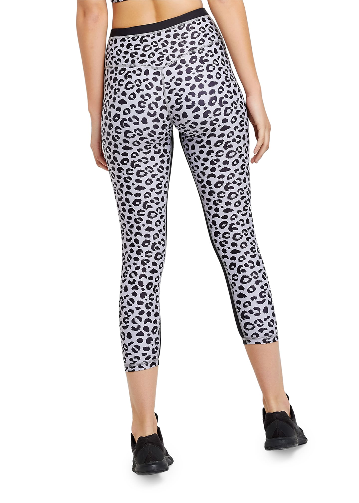 Image 3 of 3: Jagger Leopard-Print Cropped Leggings