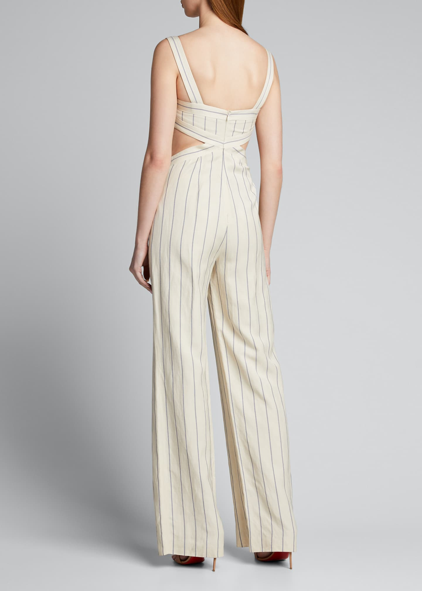 Image 2 of 5: Lipton Striped Cutout Jumpsuit