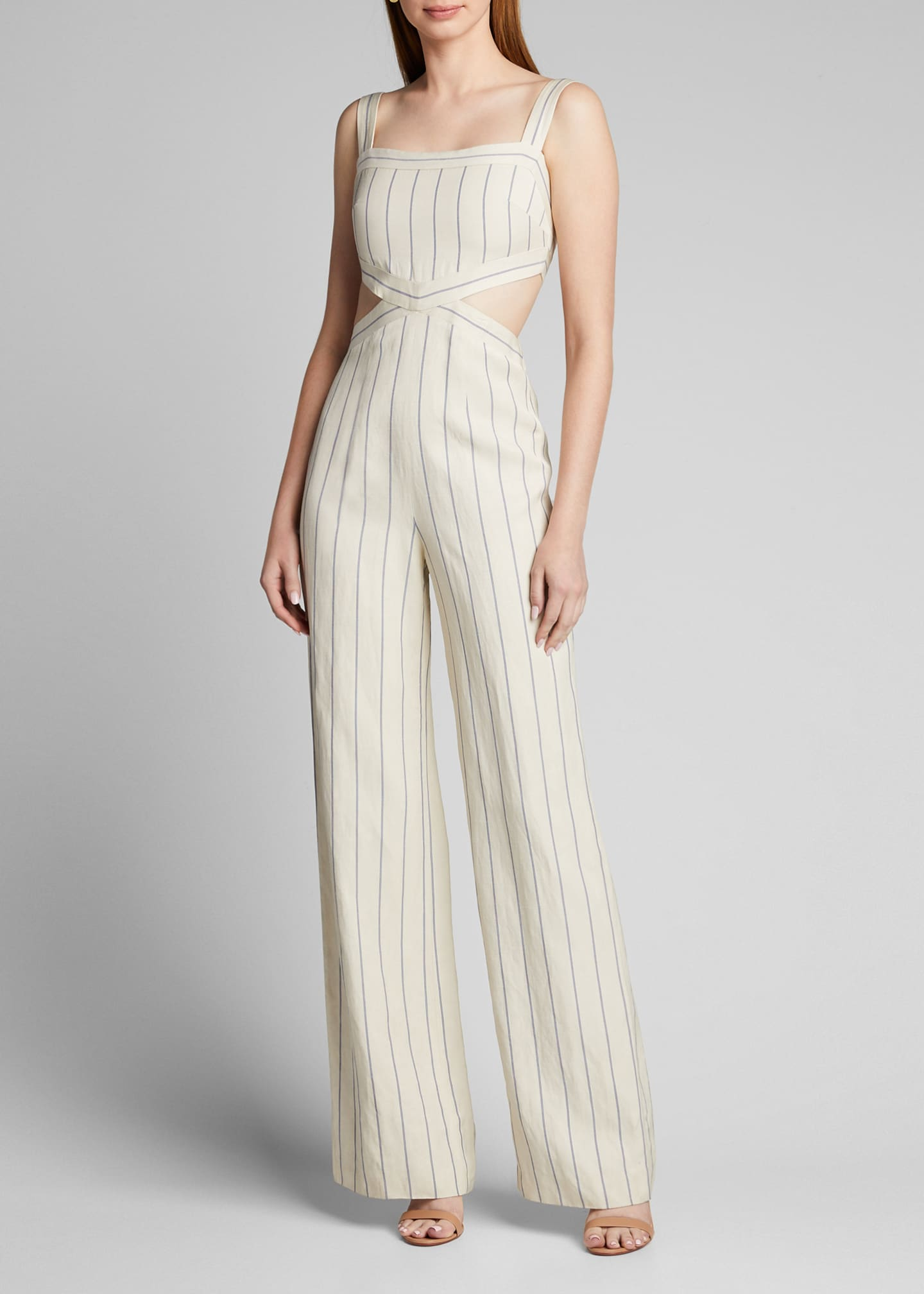 Image 3 of 5: Lipton Striped Cutout Jumpsuit